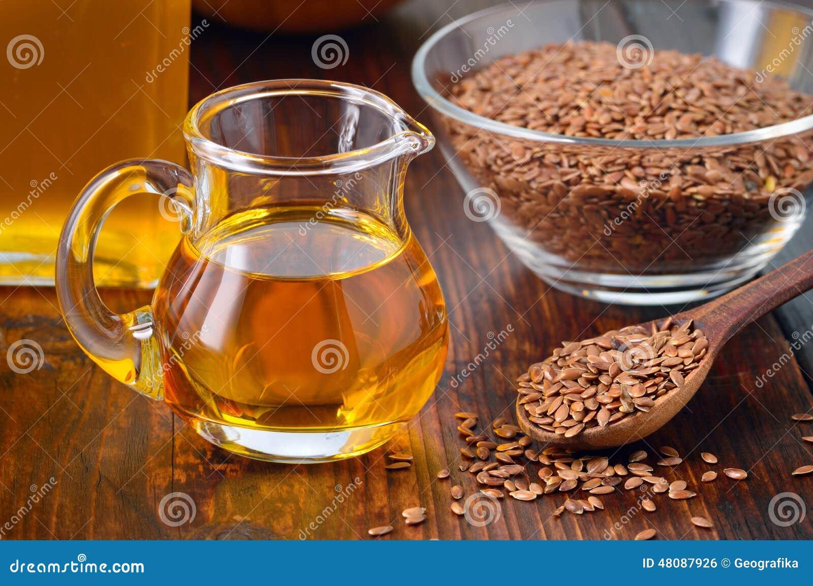 Flaxseeds i linseed olej