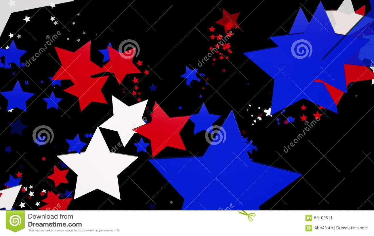 Flaying Stars In Red blue And Black And White And Blue Backgrounds