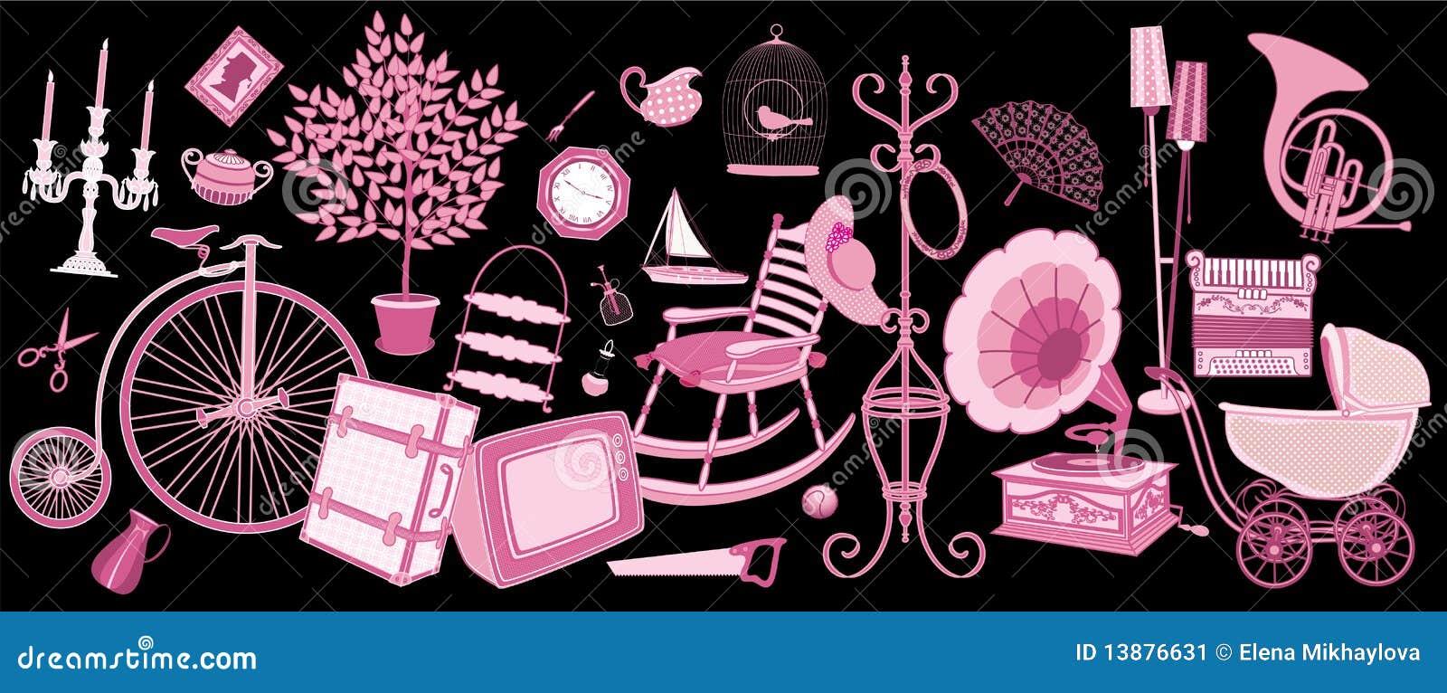 Suitcase Chair For Sale Flea Market Stock Image - Image: 13876631