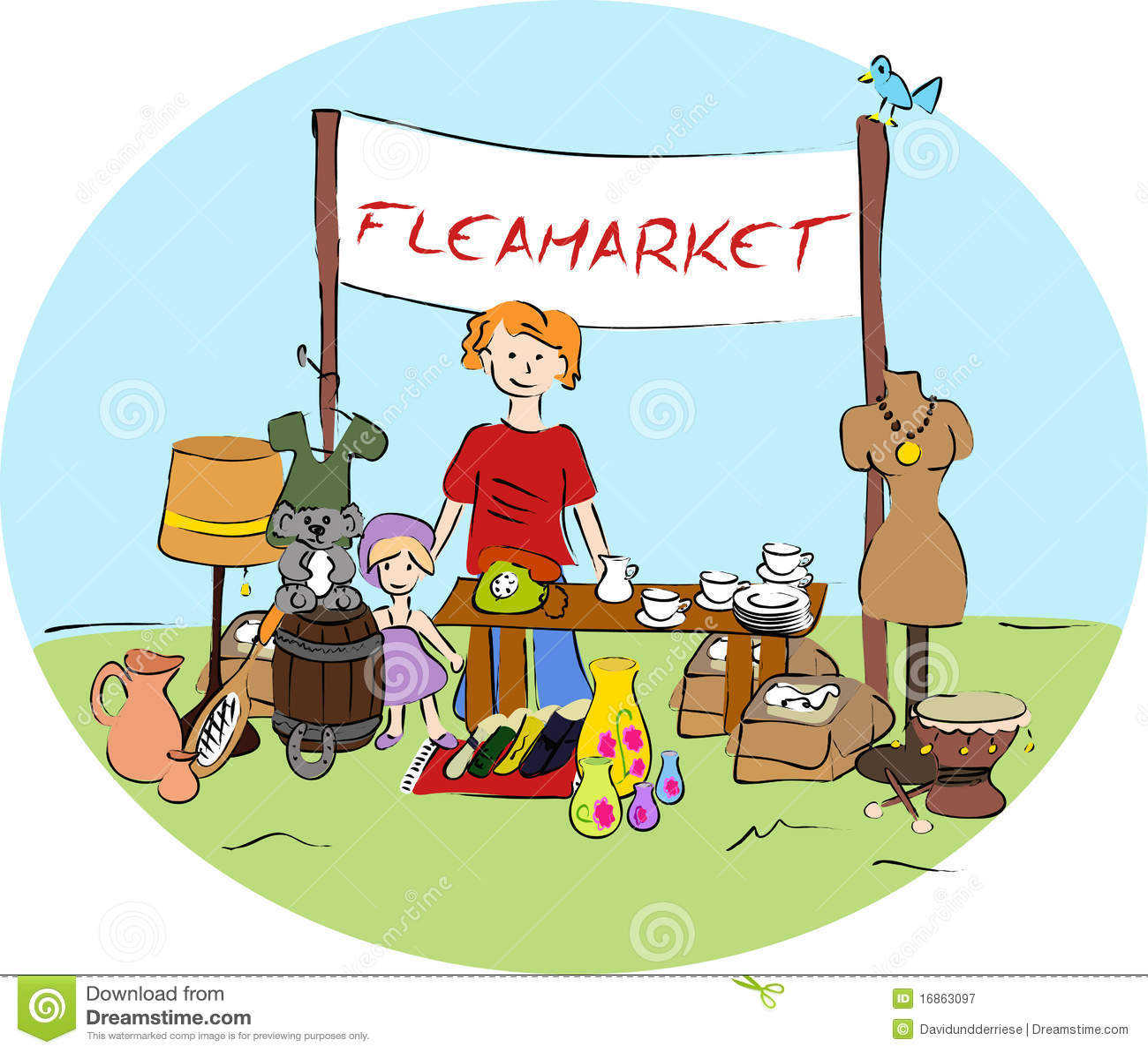 Flea Market Travel Bag