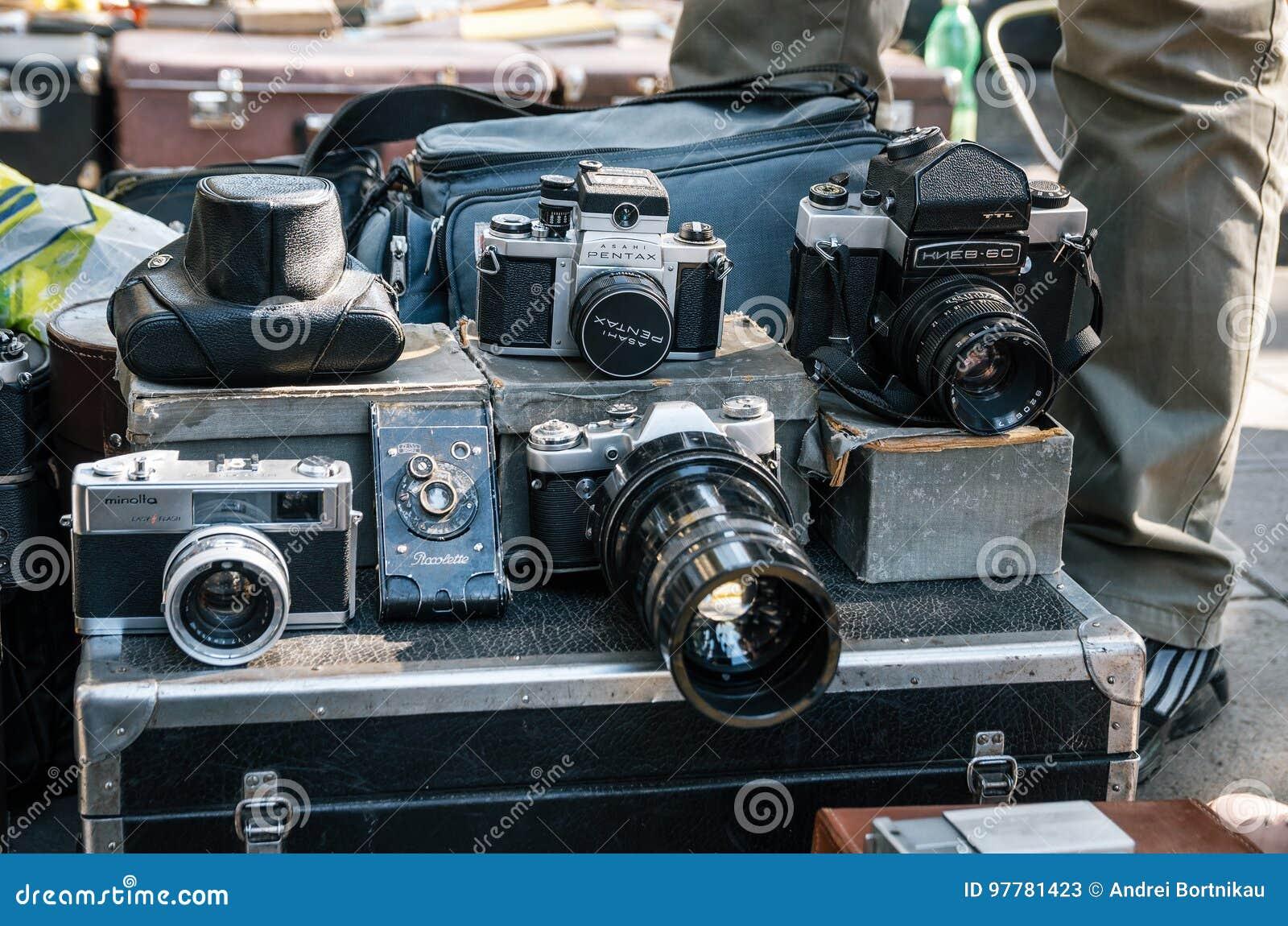 Flea Market With Cameras, Tbilisi, Georgia Editorial Stock