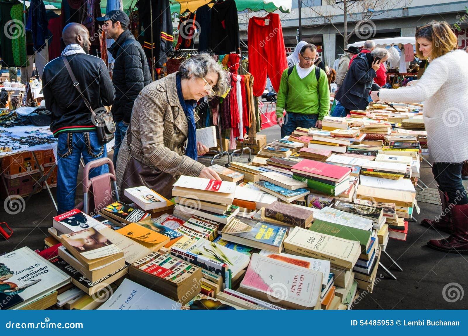 Attractive Aligre Books Flea Historic Marche Market ...