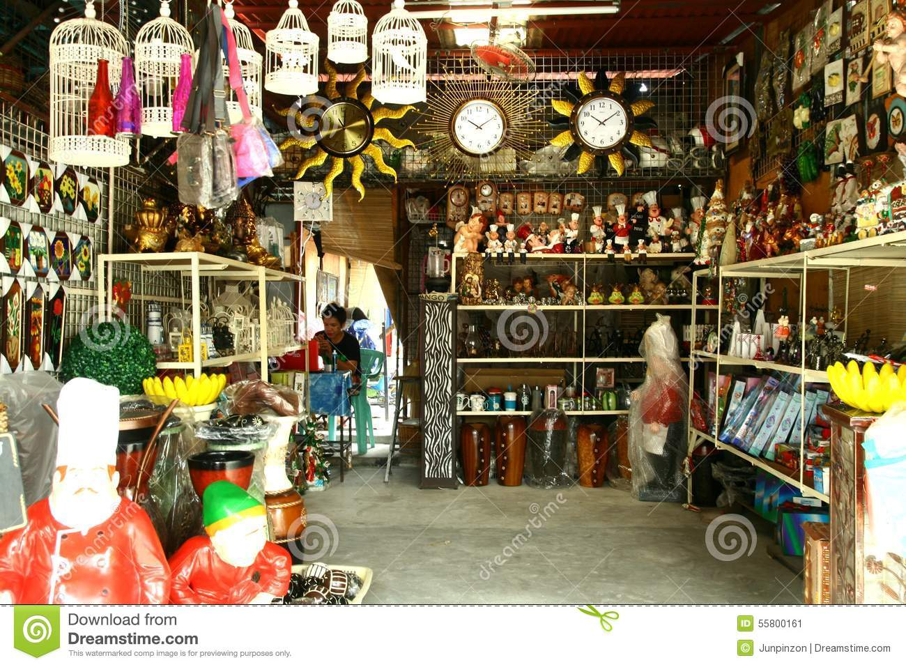 Flea Market Stores In Dapitan Arcade In Manila Philippines Selling Houseware And Home Decor