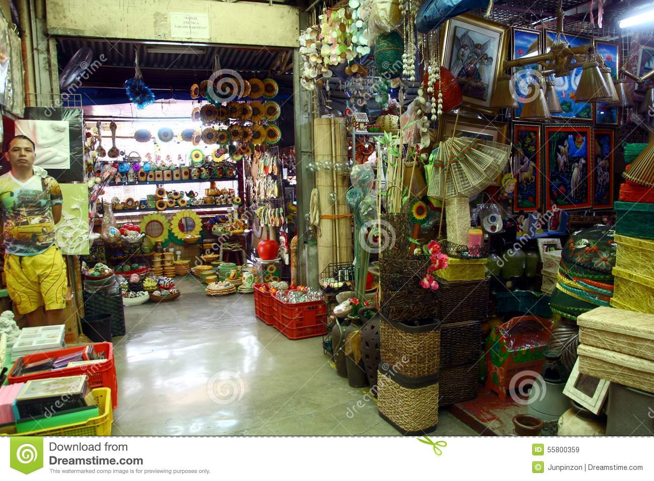 Flea market stores in dapitan arcade in manila for Selling home interior products