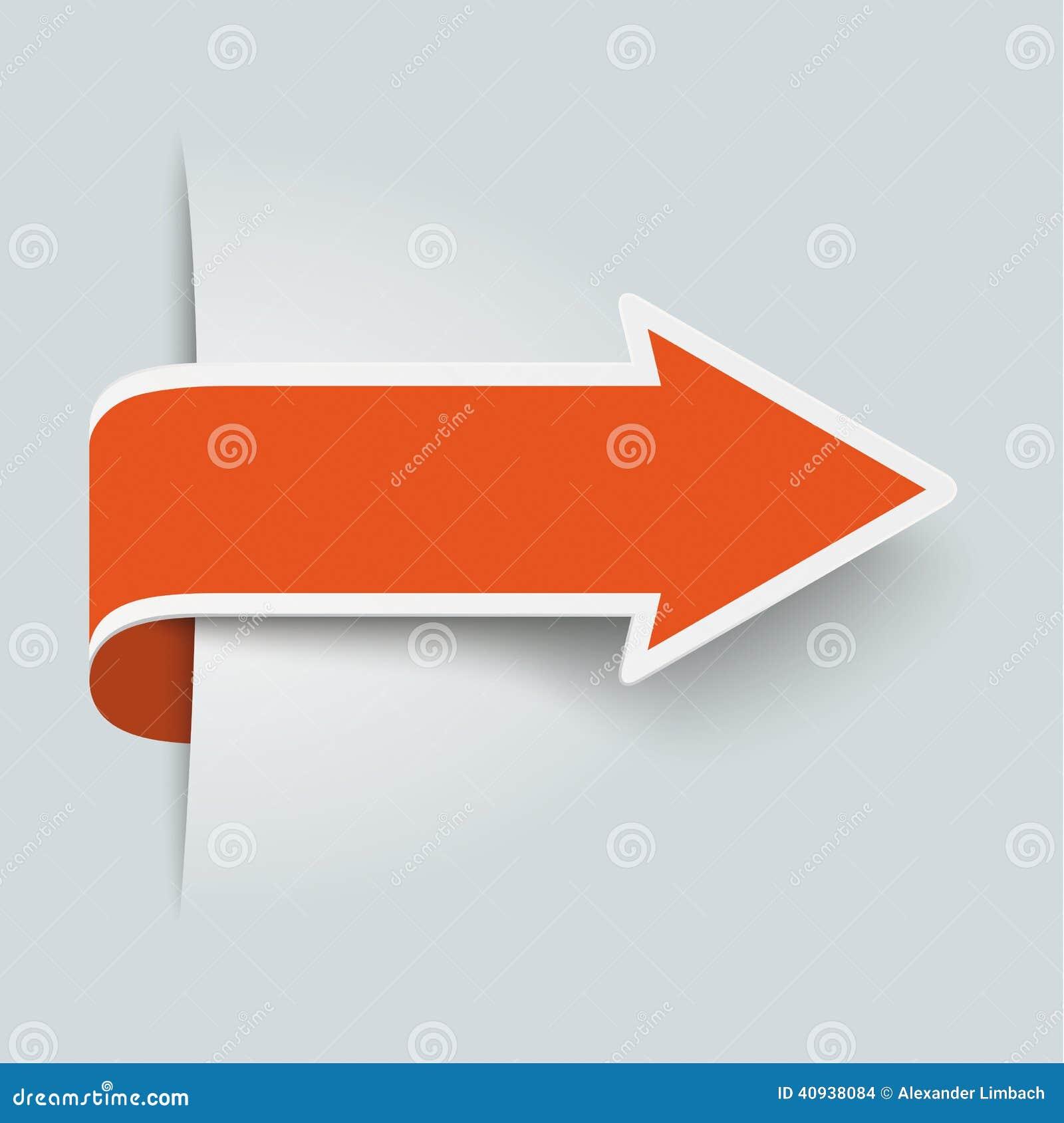 Flecha anaranjada grande