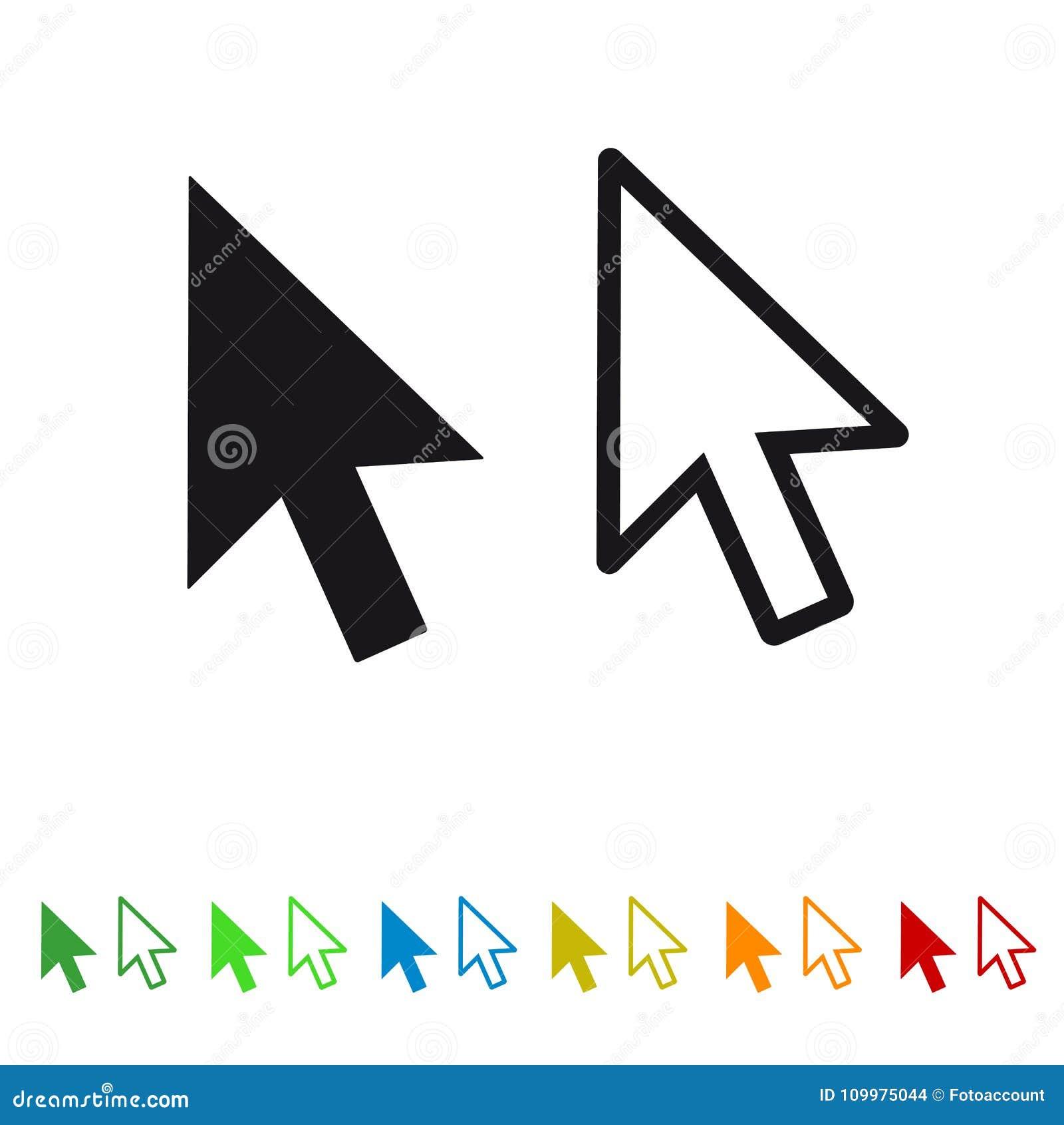 Flecha del indicador del clic del ratón del ordenador - icono plano para Apps y los sitios web