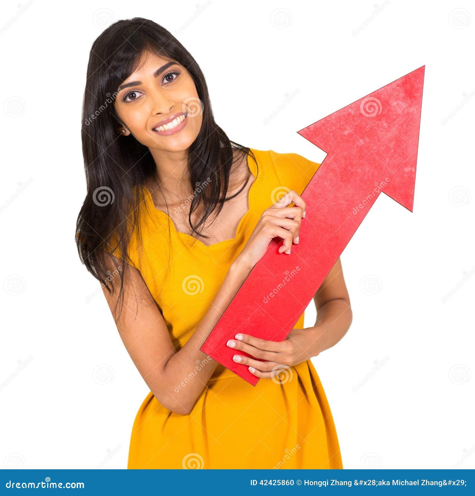 Flecha india de la mujer