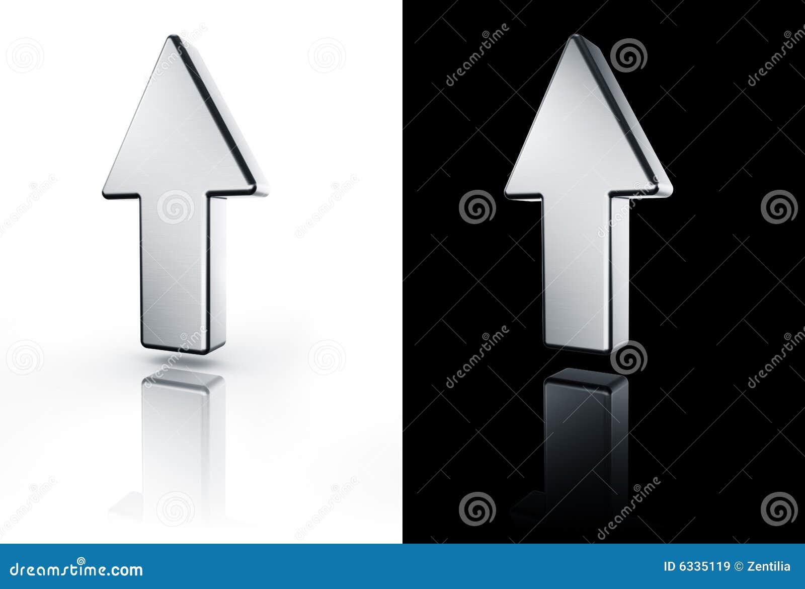Flecha que se ala para arriba en el suelo blanco y negro for Suelo 3d blanco