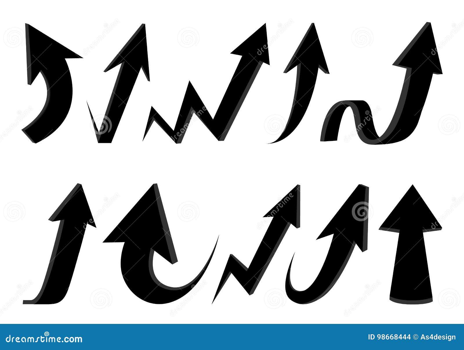 Flechas Ilustraciones Stock, Vectores, Y Clipart