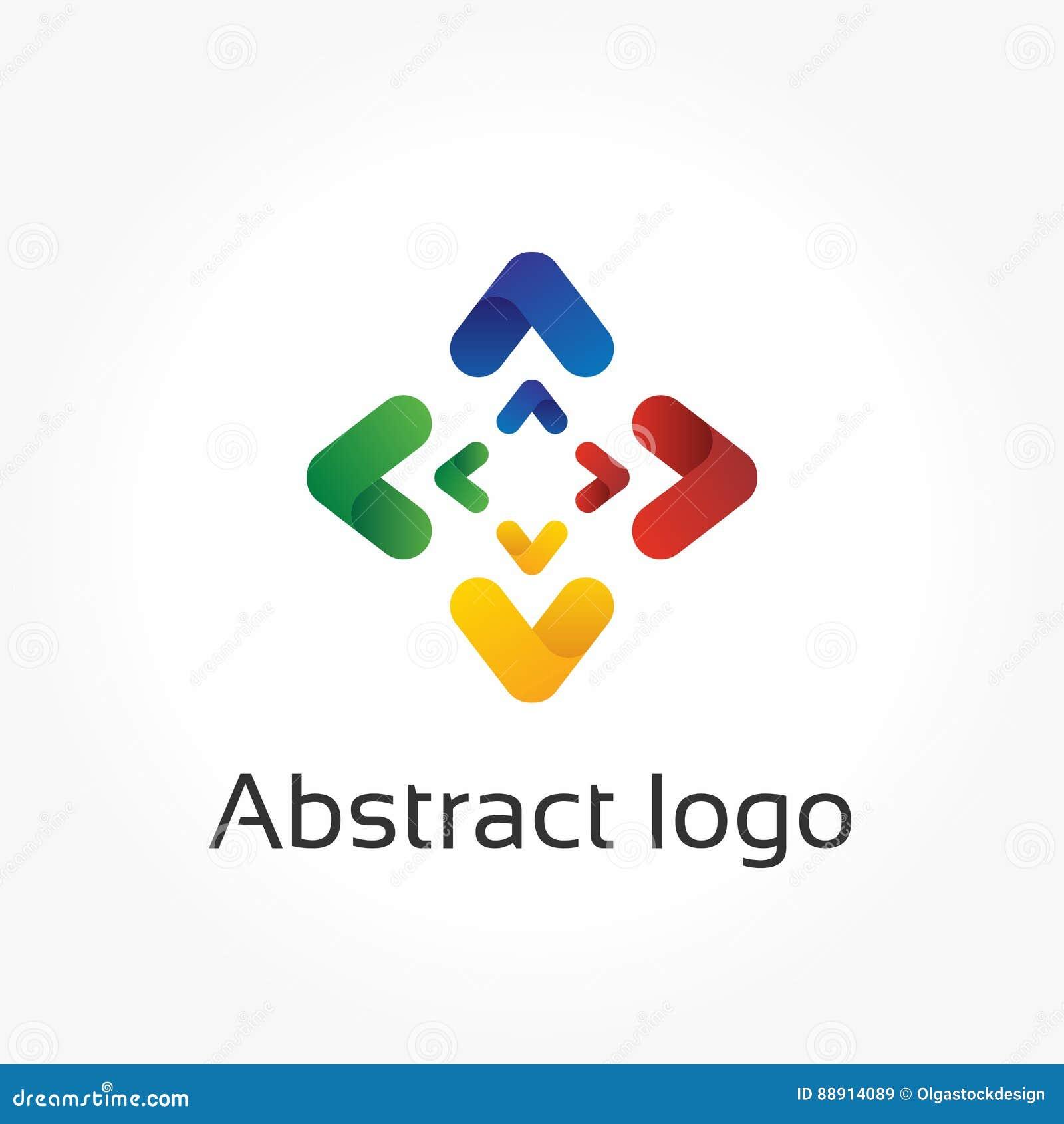 Flechas Abstractas, Plantilla Del Logotipo Del Vector, Elemento Del ...