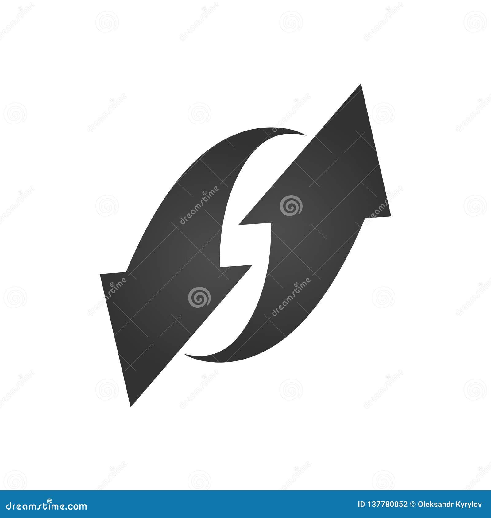 Flechas brillantes negras 3d Ilustración del vector en el fondo blanco