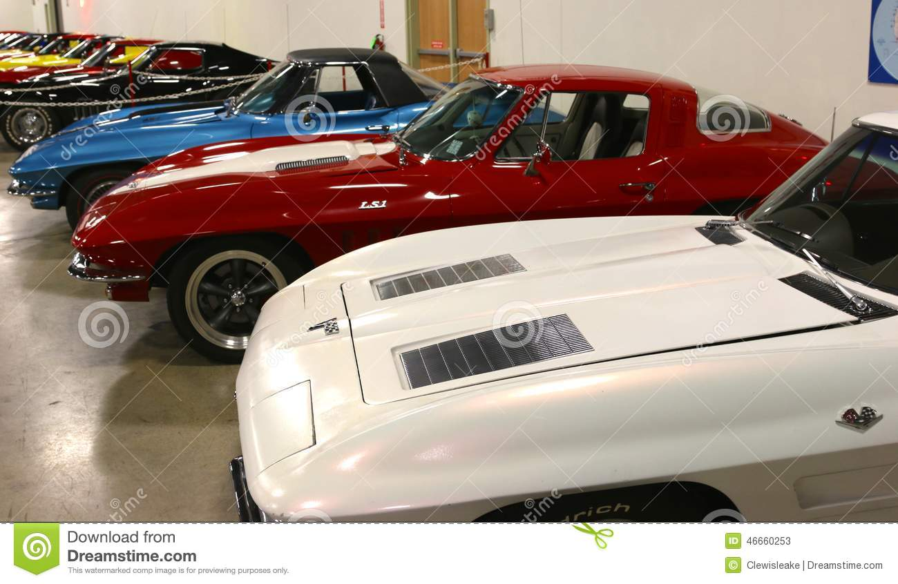 Corvette Collectible Sports Cars Editorial Stock Photo - Image of ...