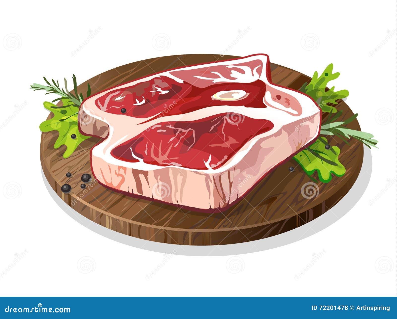 Fleisch auf Platte