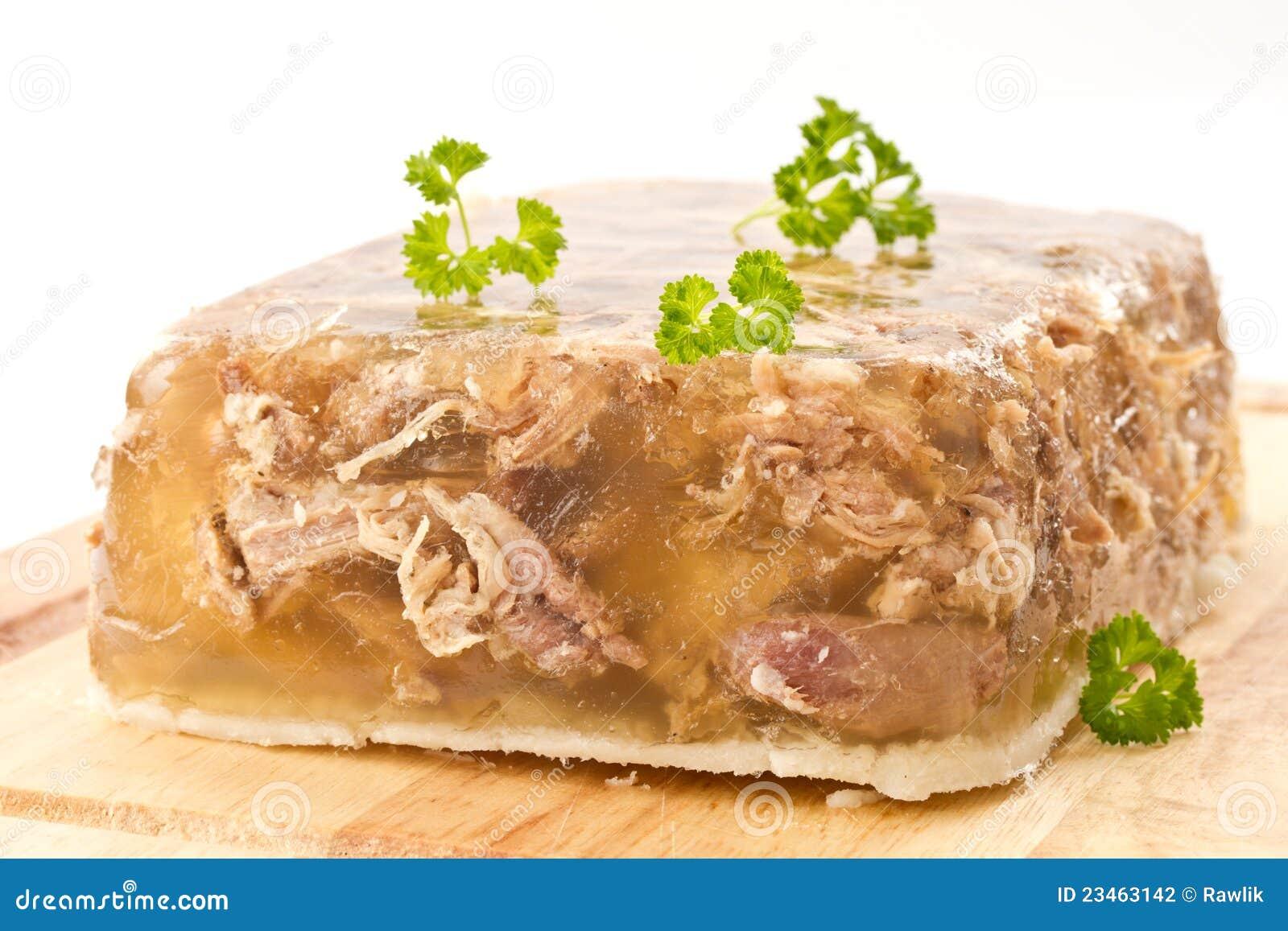 Fleisch im Aspik