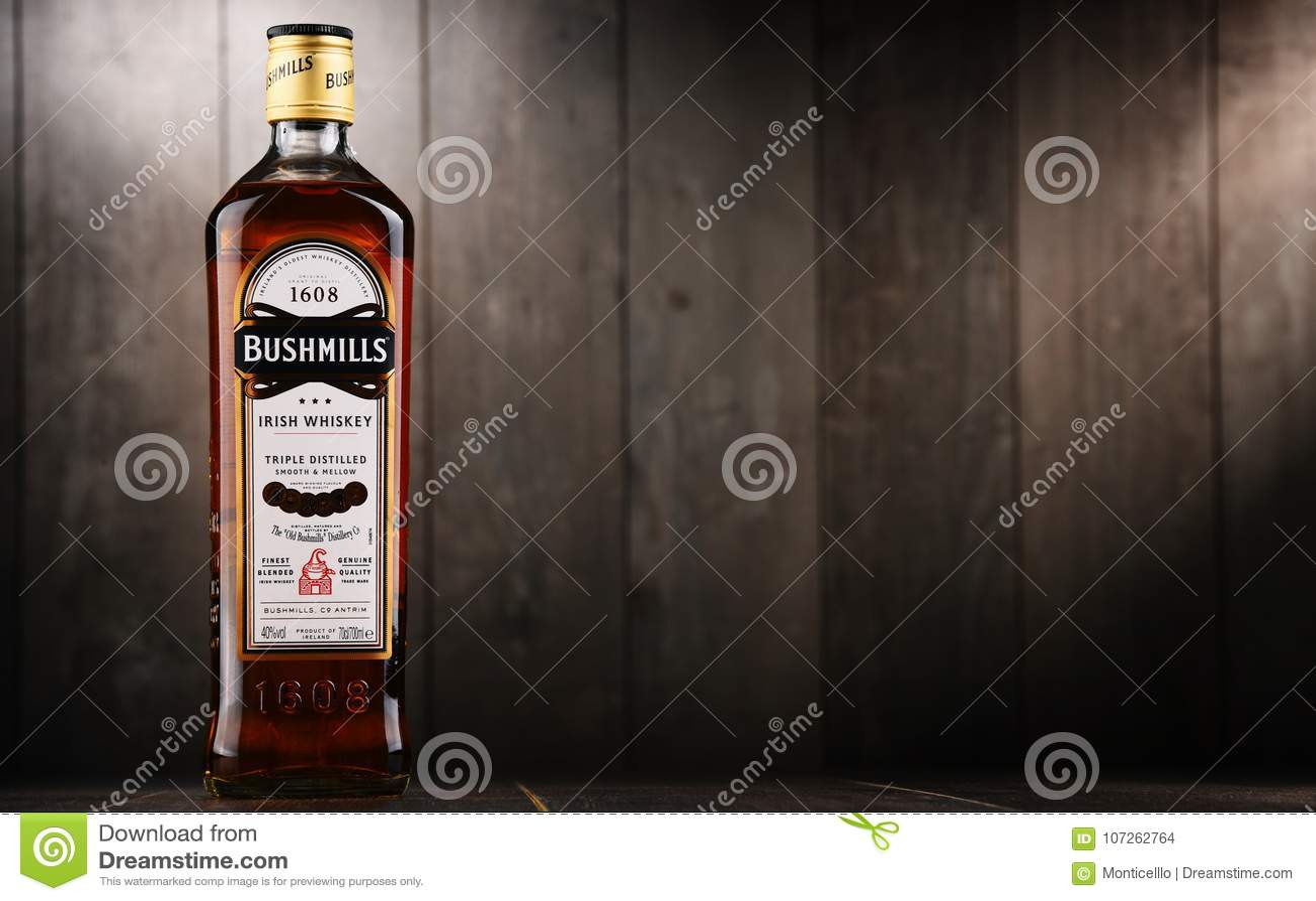 Fles de Originele Ierse whisky van Bushmills
