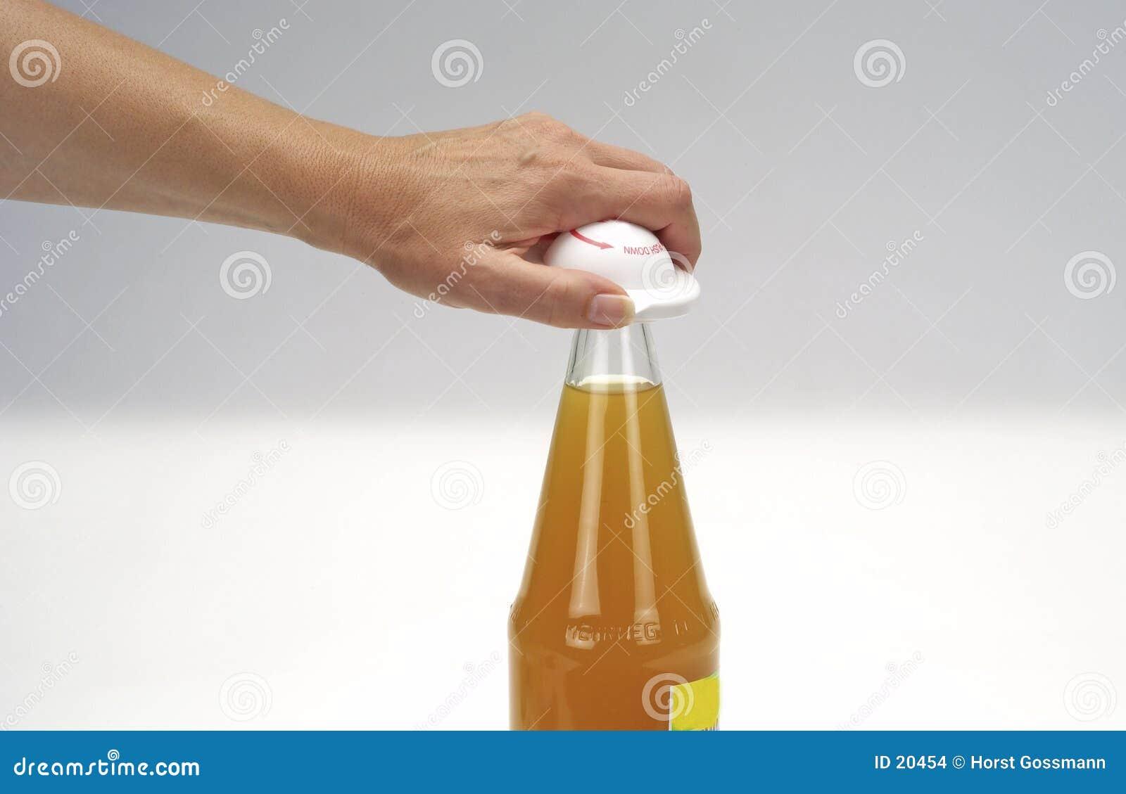 Fles en hand