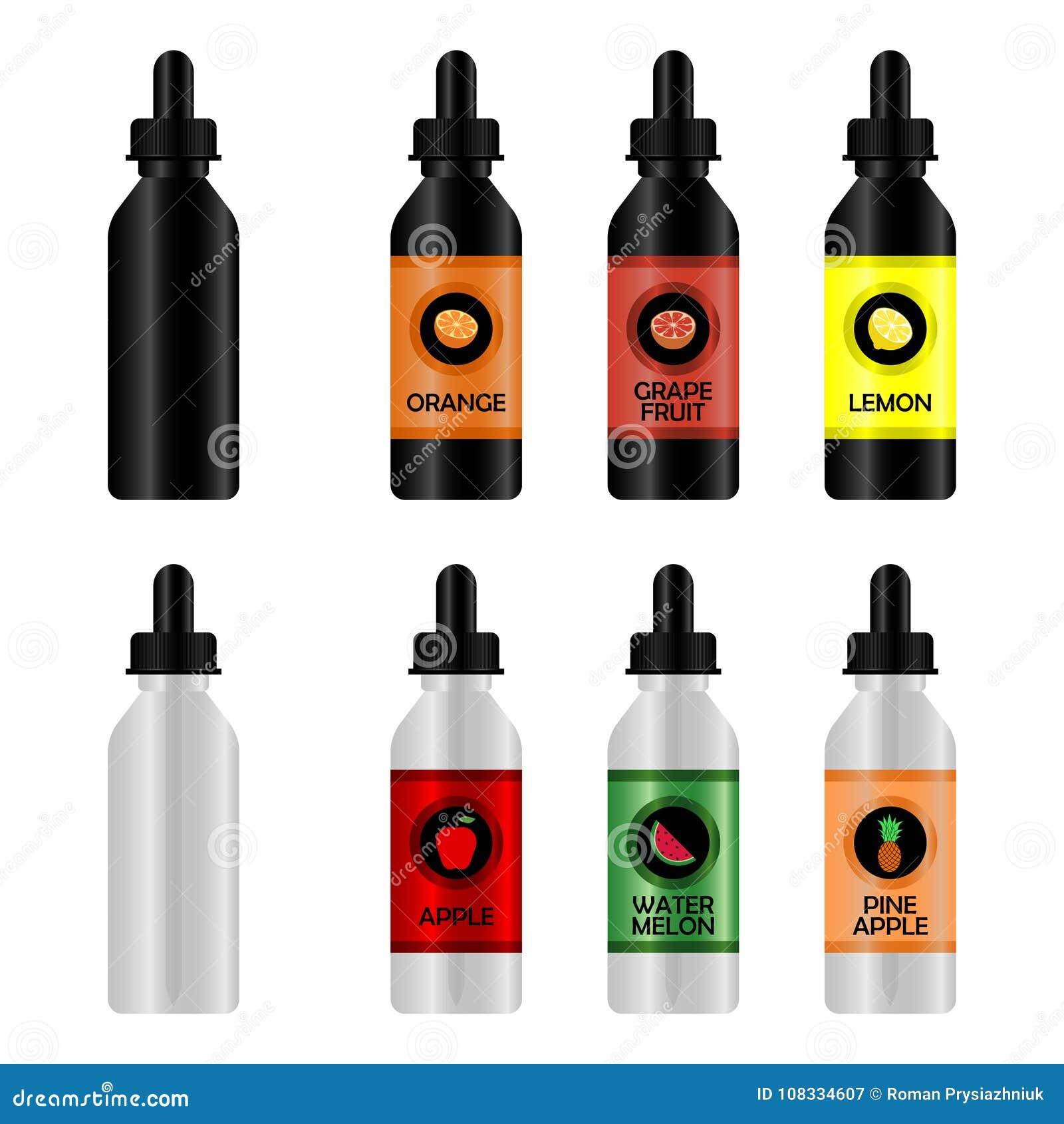 Fles met e-Vloeistof voor Vape Reeks van realistisch flessenmodel met smaken voor een elektronische sigaret met verschillende aro