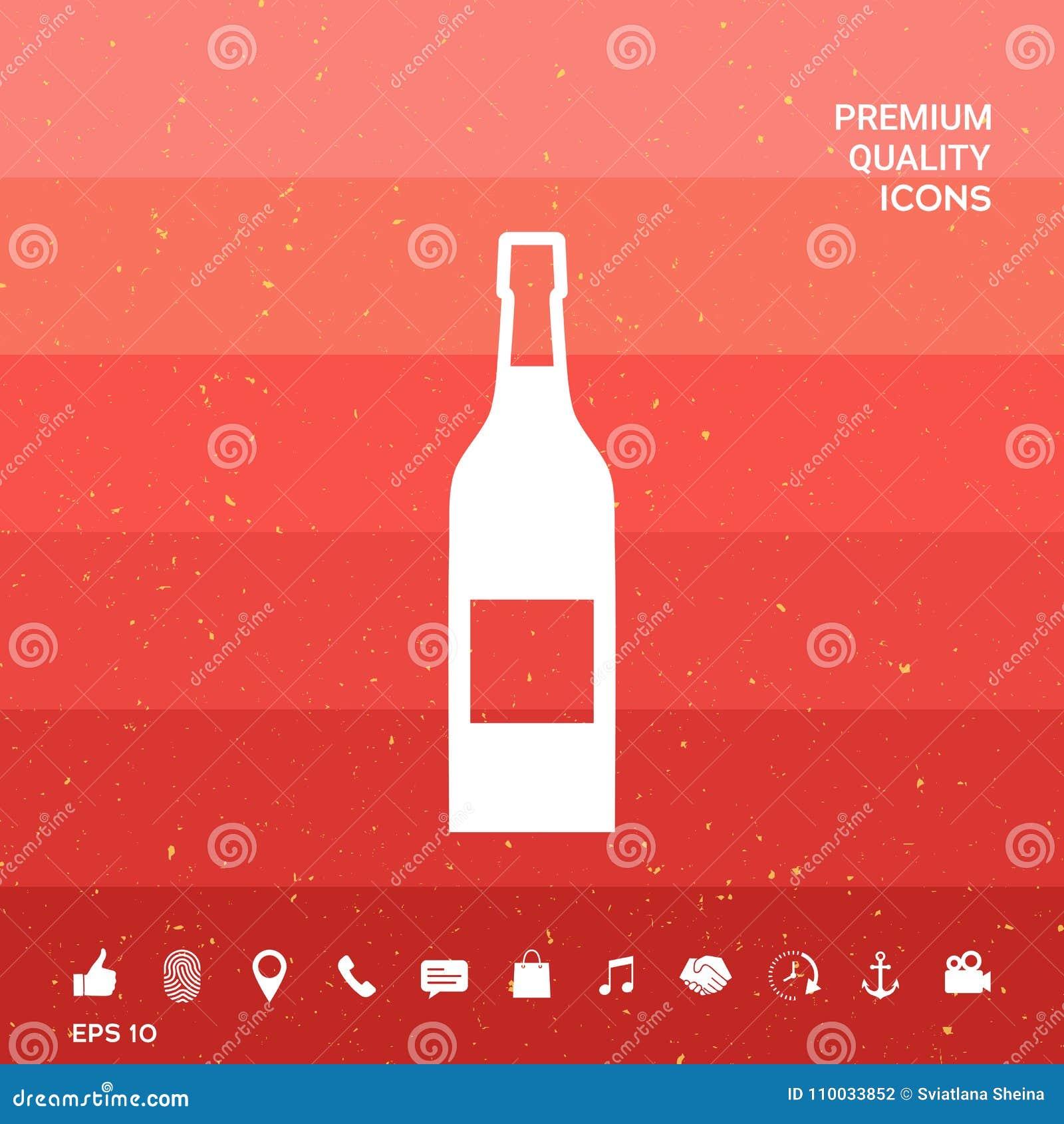 Fles van wijnpictogram