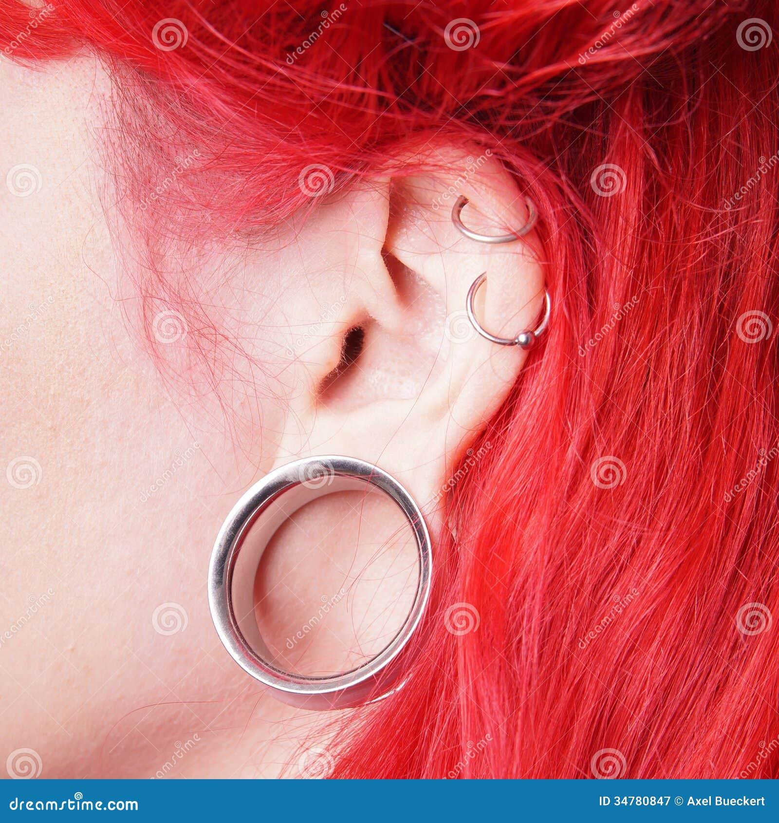 Flesh Tunnel Stock Image Image Of Earring Alternative 34780847