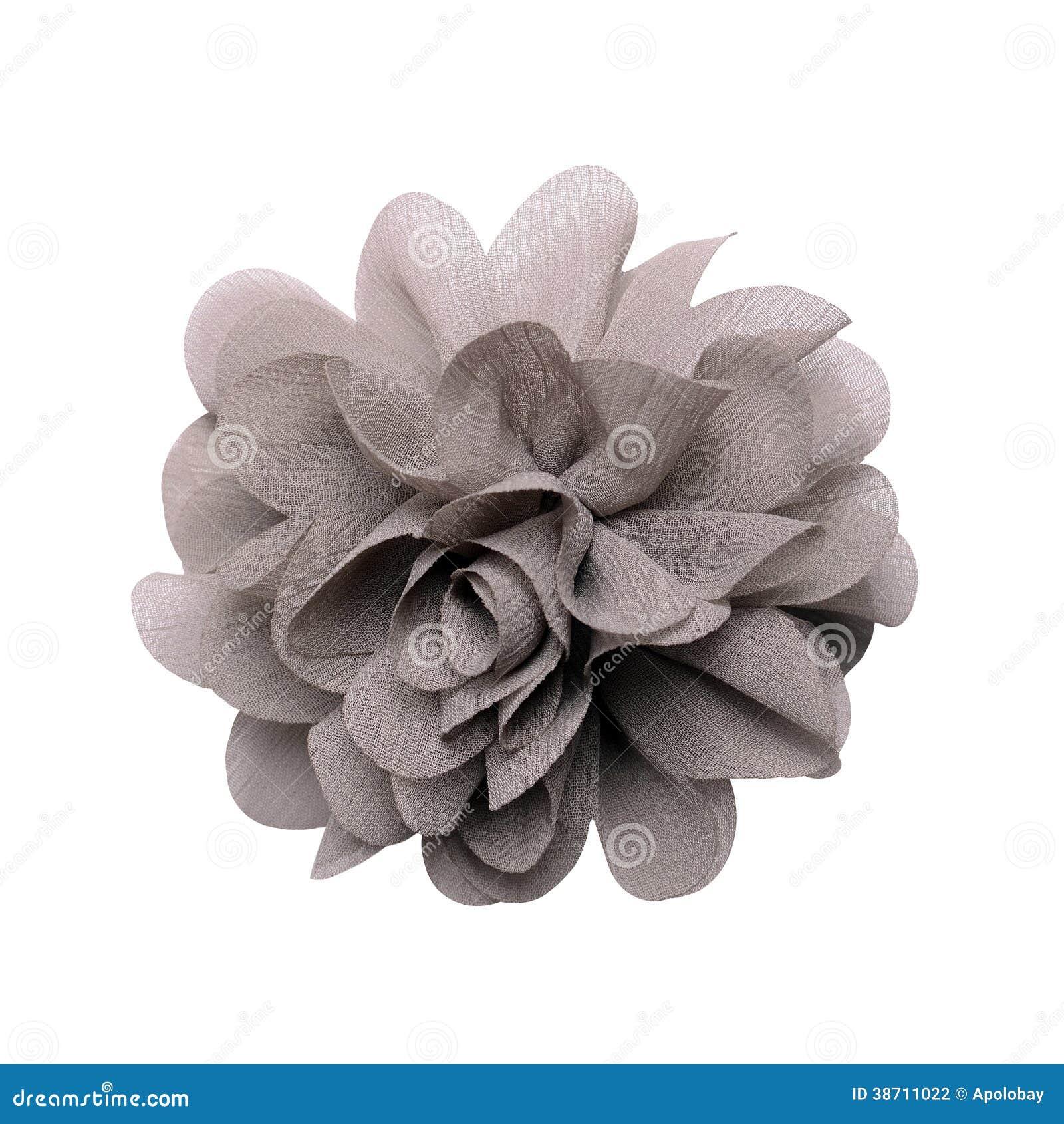 Fleur Artificielle Grise D Isolement Sur Le Blanc Photo Stock