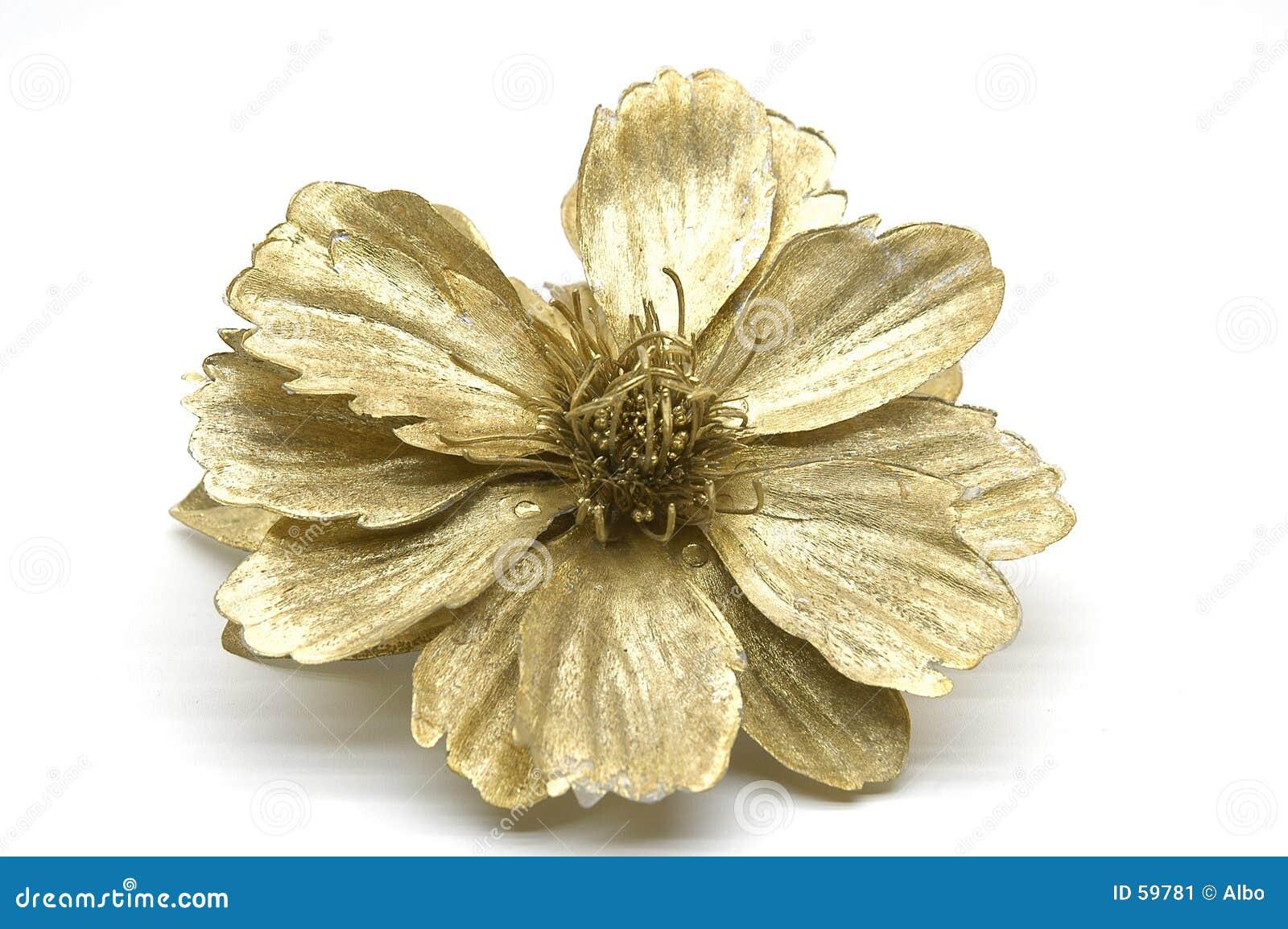 Download Fleur d'or image stock. Image du créateur, ornement, fleur - 59781