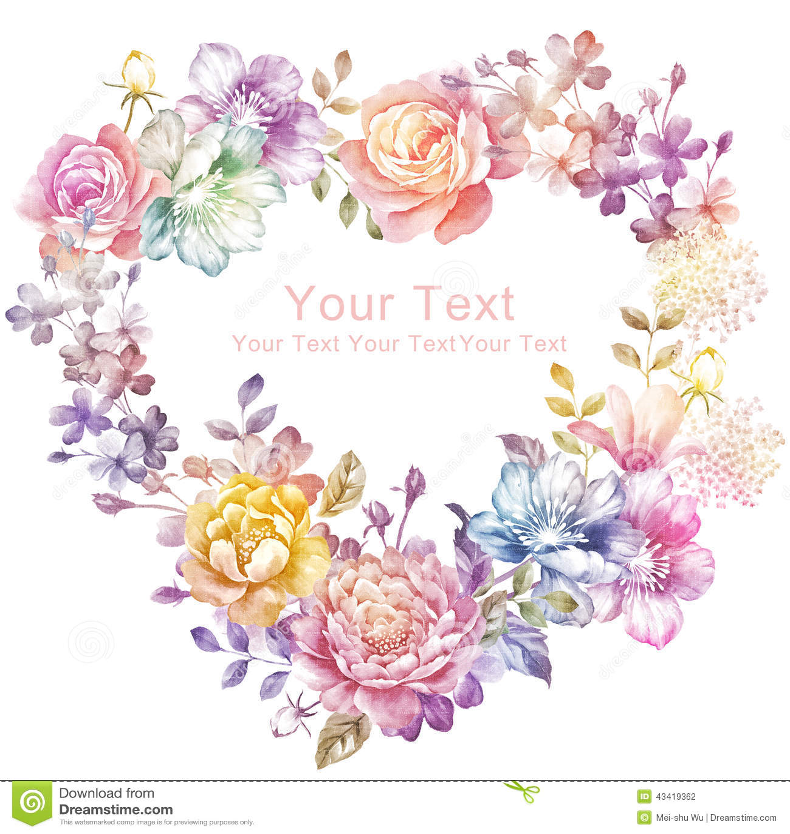 Fleur d illustration d aquarelle à l arrière-plan simple