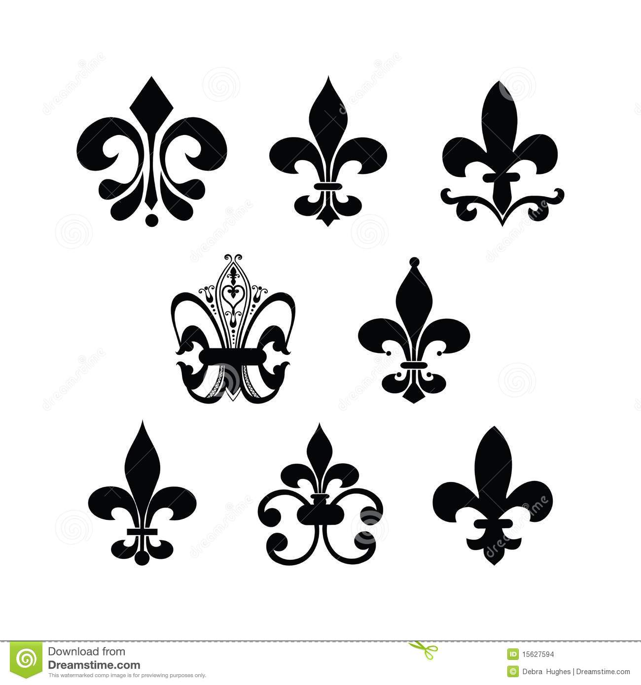fleur de lis stock images image 15627594. Black Bedroom Furniture Sets. Home Design Ideas