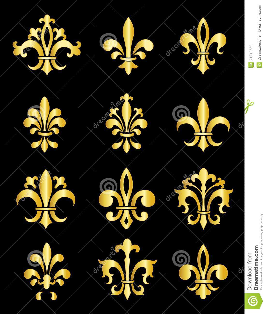 fleur de lis stock vector image of elements emblem. Black Bedroom Furniture Sets. Home Design Ideas