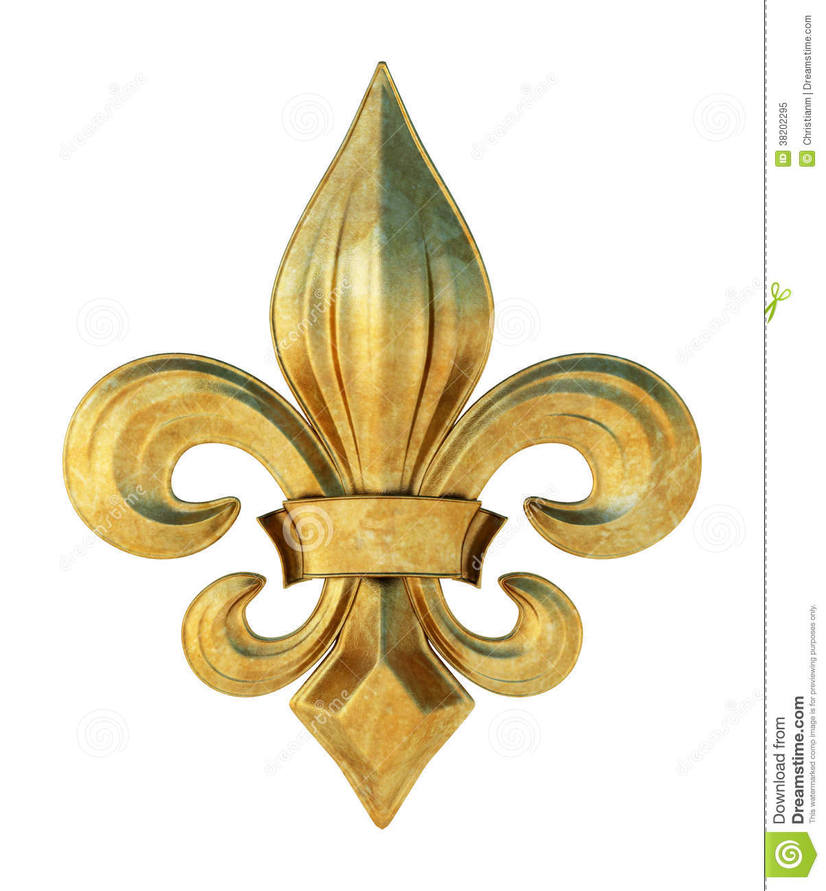 Fleur de lis stock image. Illustration of iris, ornate - 38202295