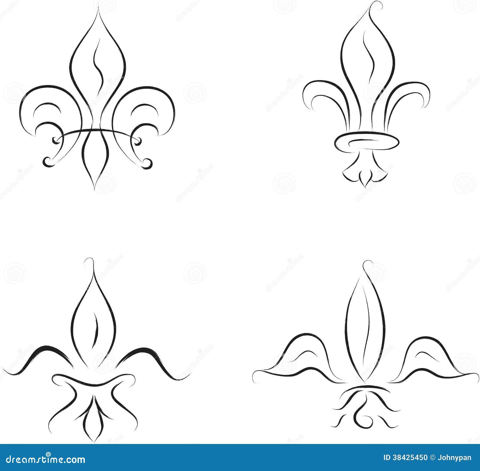 Fleur Illustration fleur de lis stock vector. illustration of france, gn - 38425450