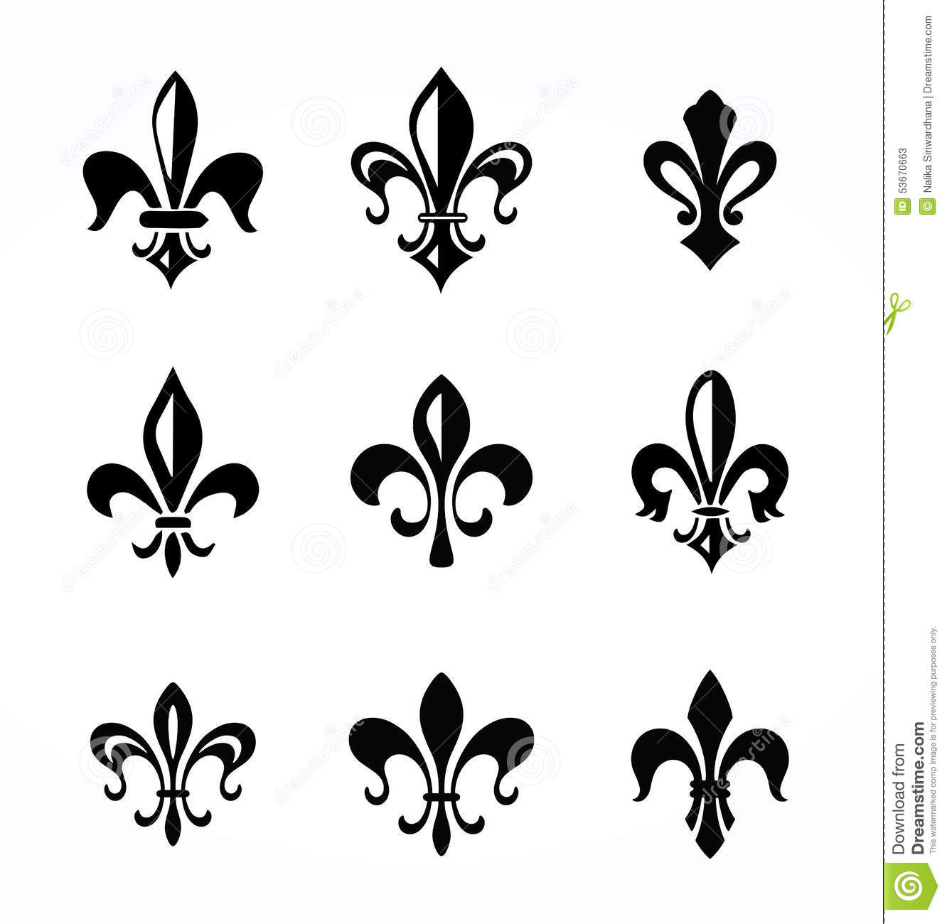 fleur de lis stock vector image 53670663. Black Bedroom Furniture Sets. Home Design Ideas