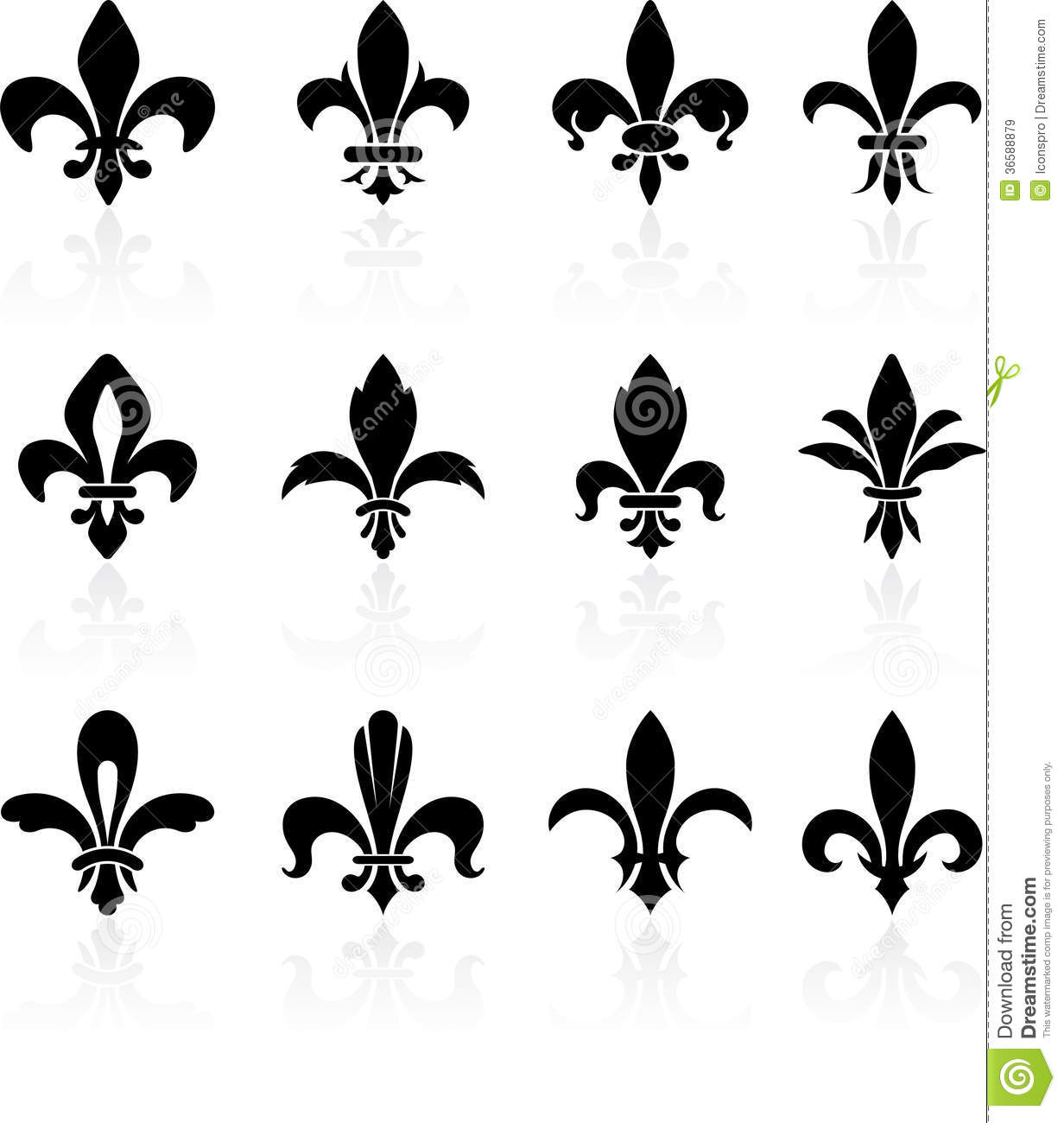 fleur de lis design collection royalty free stock images. Black Bedroom Furniture Sets. Home Design Ideas