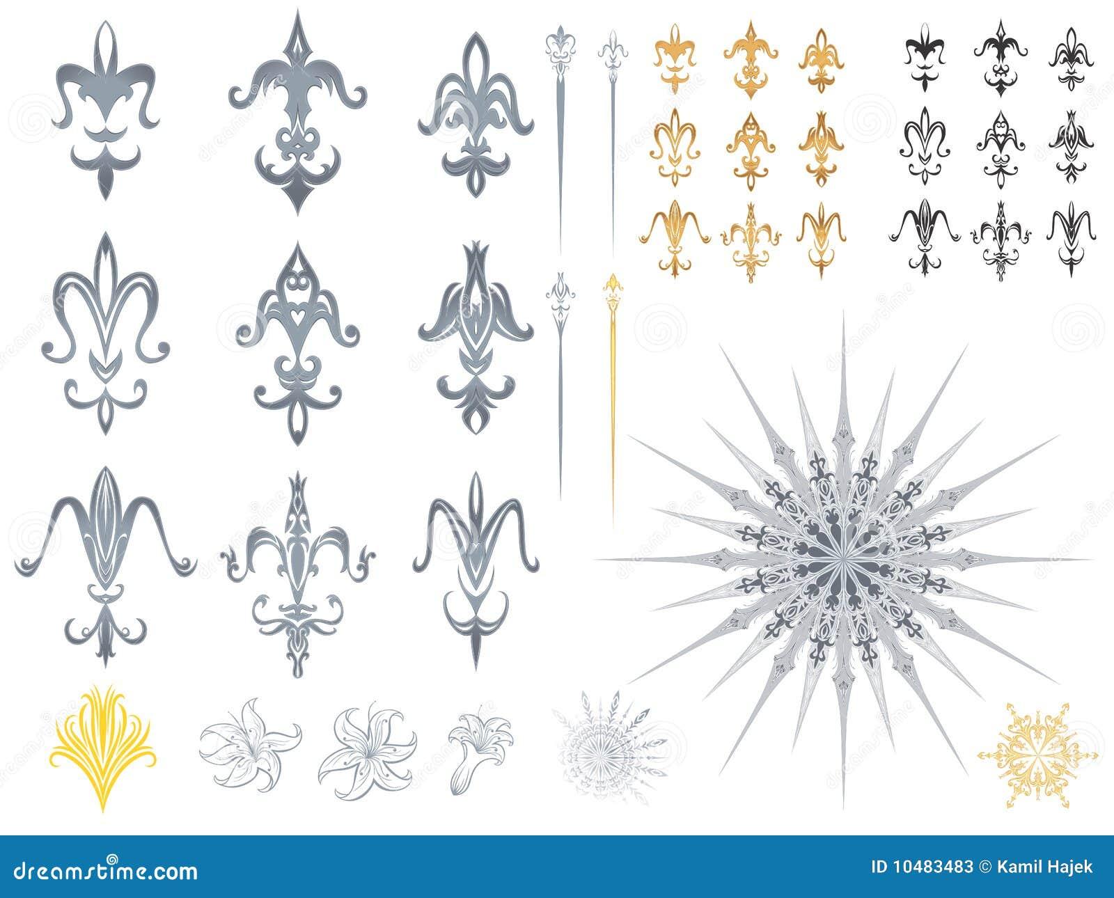 fleur de lis designs stock photos image 10483483. Black Bedroom Furniture Sets. Home Design Ideas