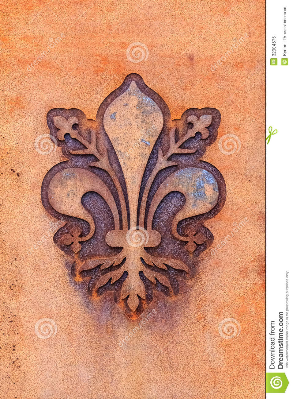 fleur de lis of florence stock photo image of stone. Black Bedroom Furniture Sets. Home Design Ideas