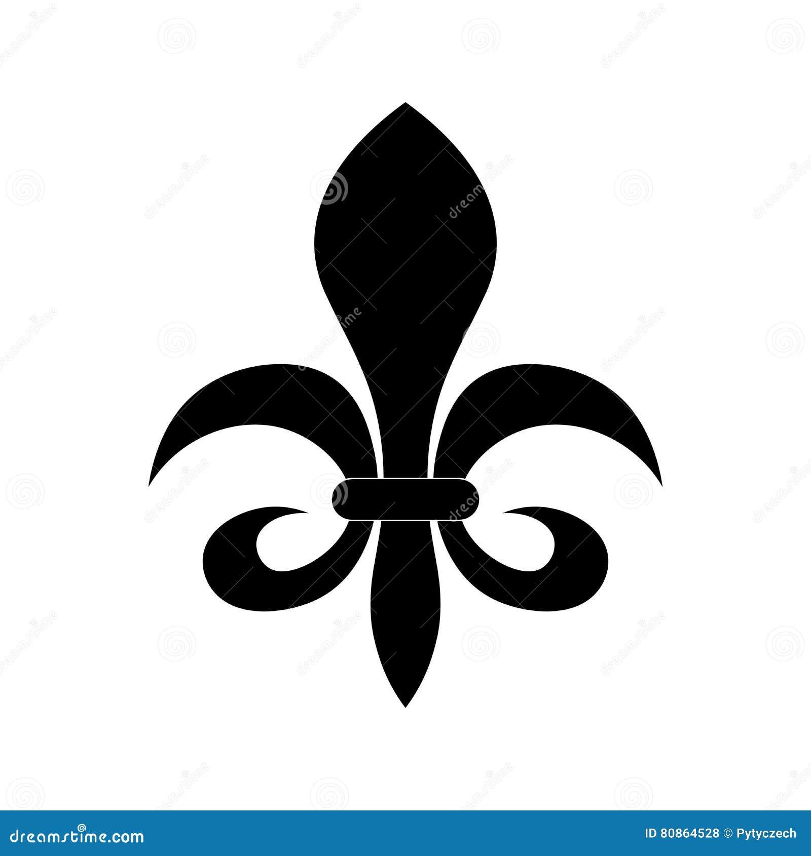 Fleur De Lis Heraldry Symbol Stock Vector Illustration Of