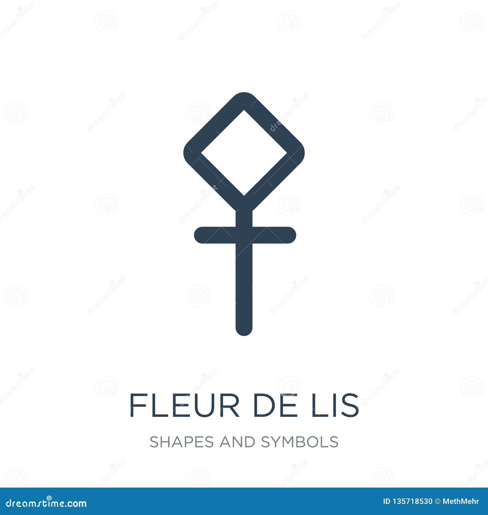 Fleur De Lis Icon In Trendy Design Style Fleur De Lis Icon Isolated