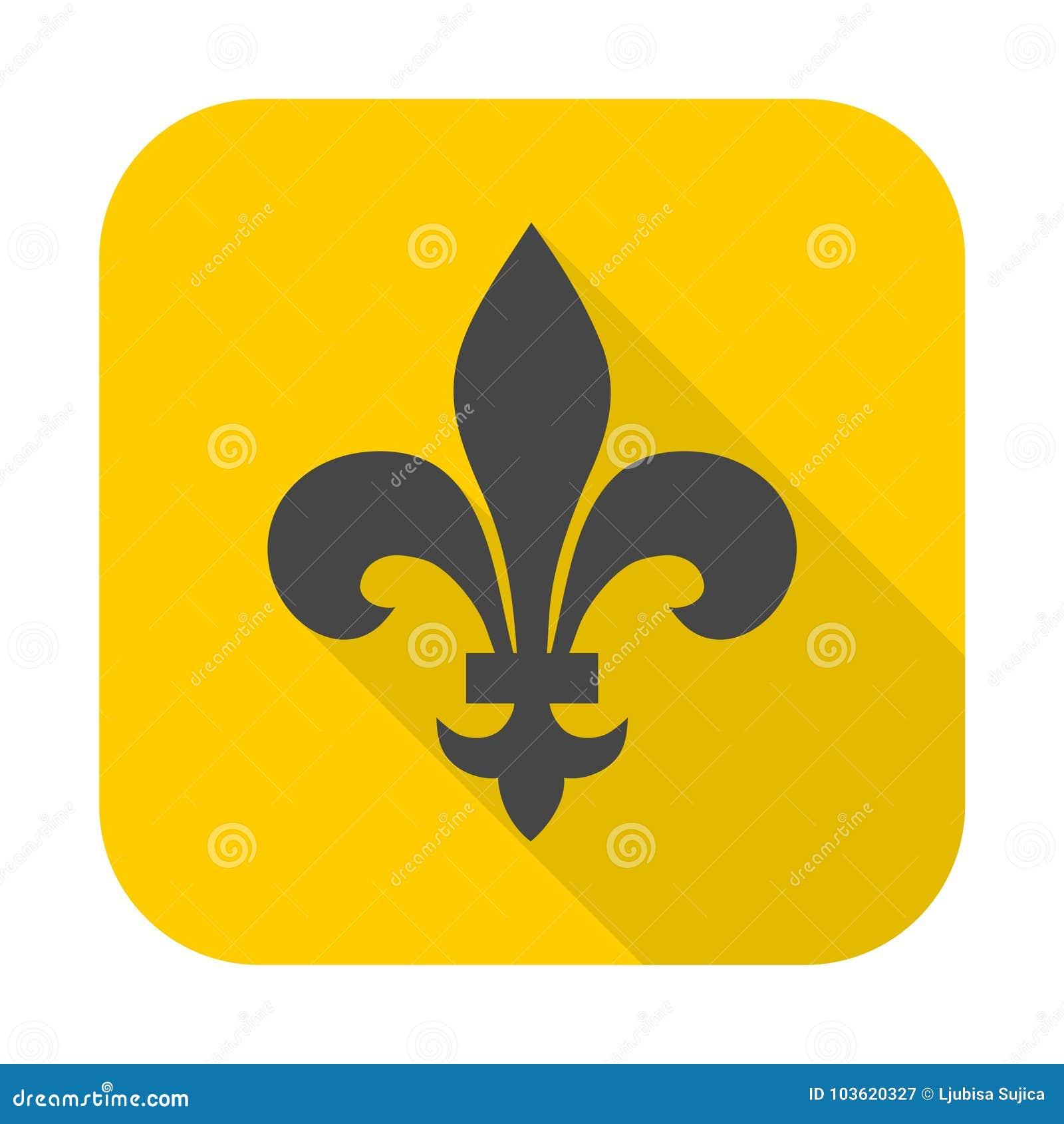 Fleur De Lis Icon Stock Vector Illustration Of Element 103620327