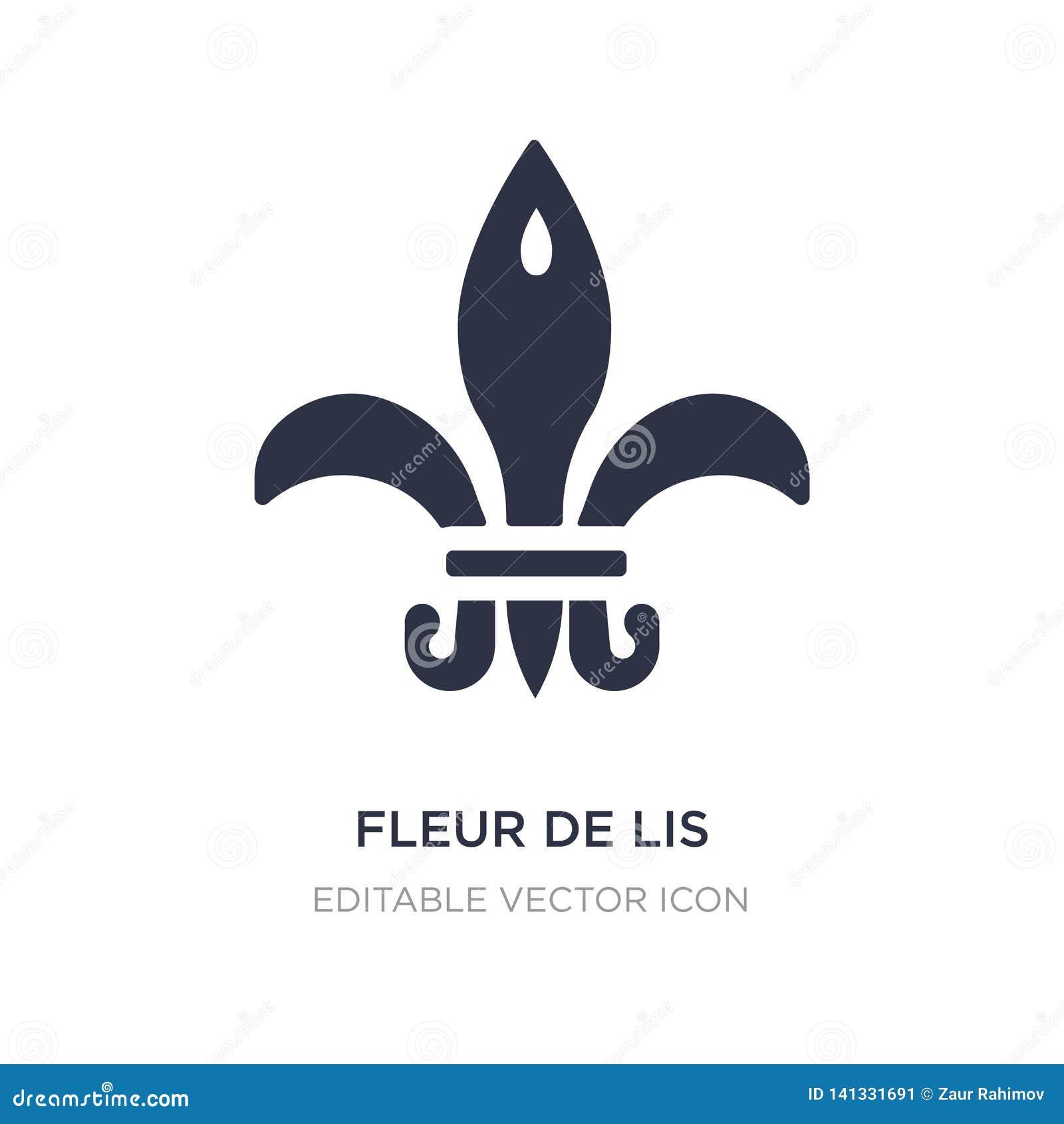 Fleur De Lis Icon On White Background Simple Element Illustration