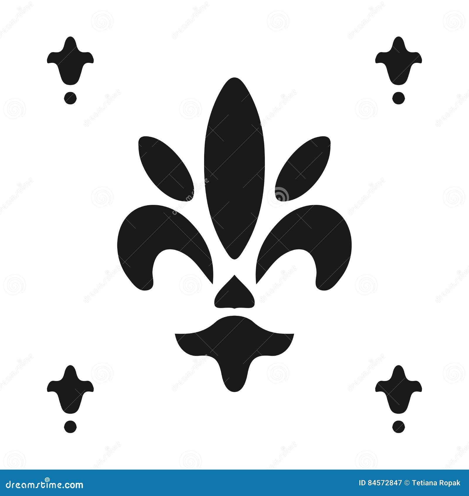 Fleur de lis symbol silhouette heraldic symbol vector royalty free vector biocorpaavc Gallery