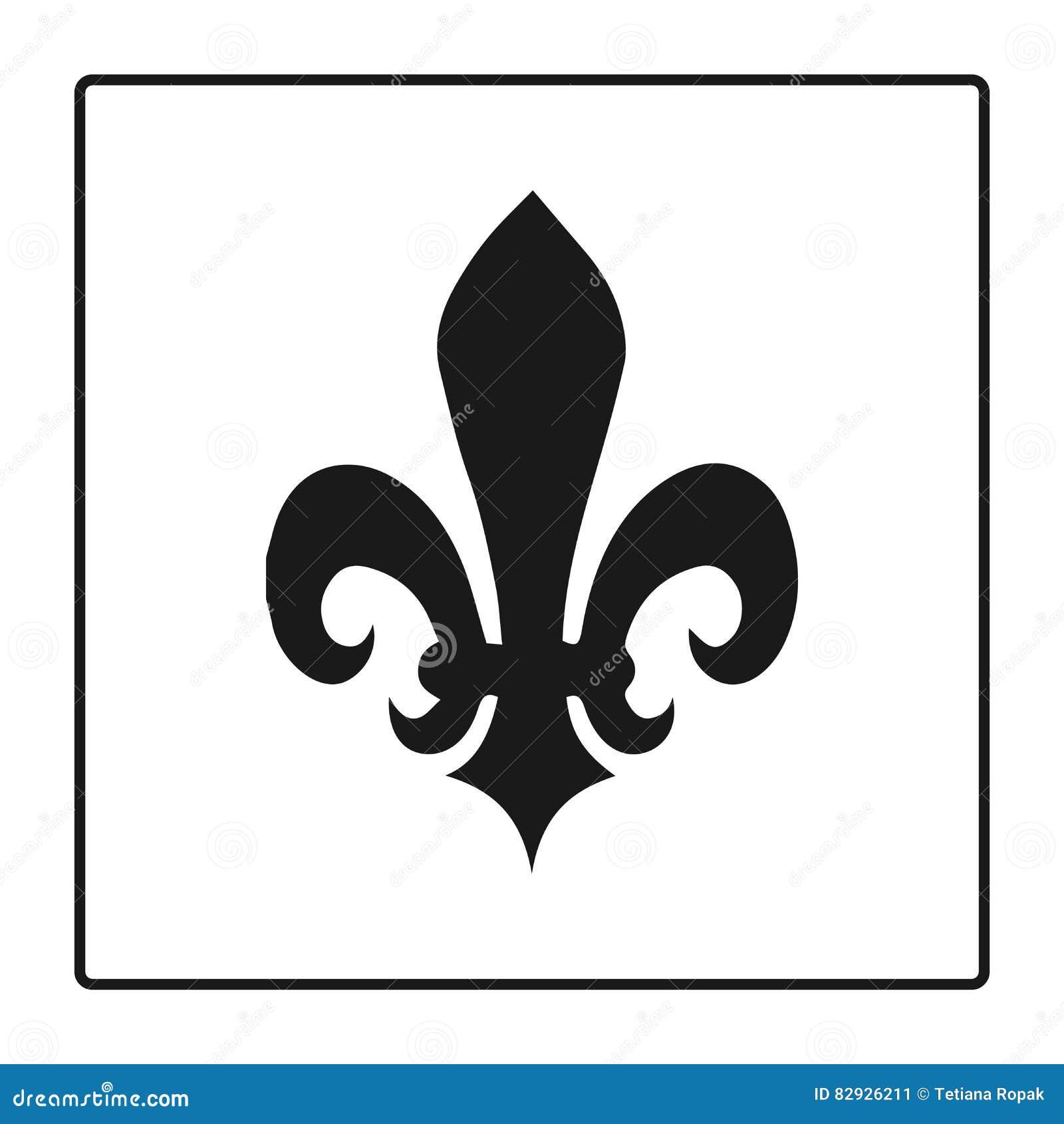 Fleur de lis symbol silhouette heraldic symbol vector fleur de lis symbol silhouette heraldic symbol vector illustration medieval sign glowing french fleur de lis royal lily ele biocorpaavc Gallery