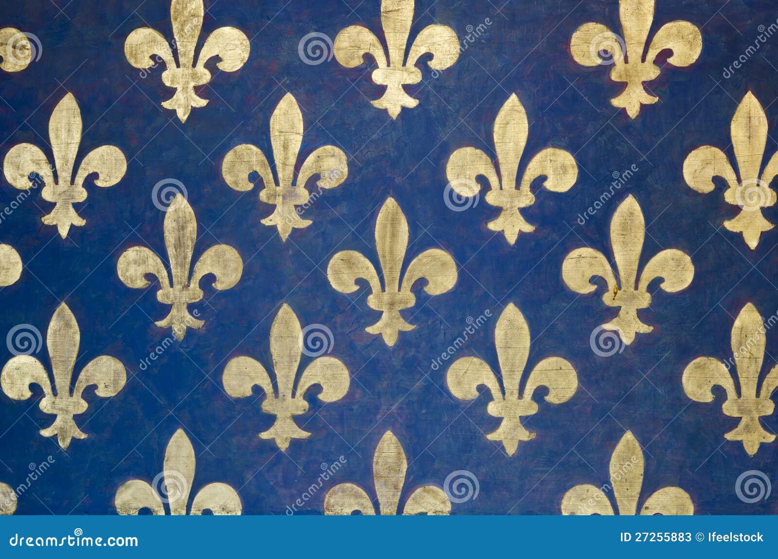 Tudor Style Wallpaper Fleur De Lis Tapete Stockfotos Bild 27255883