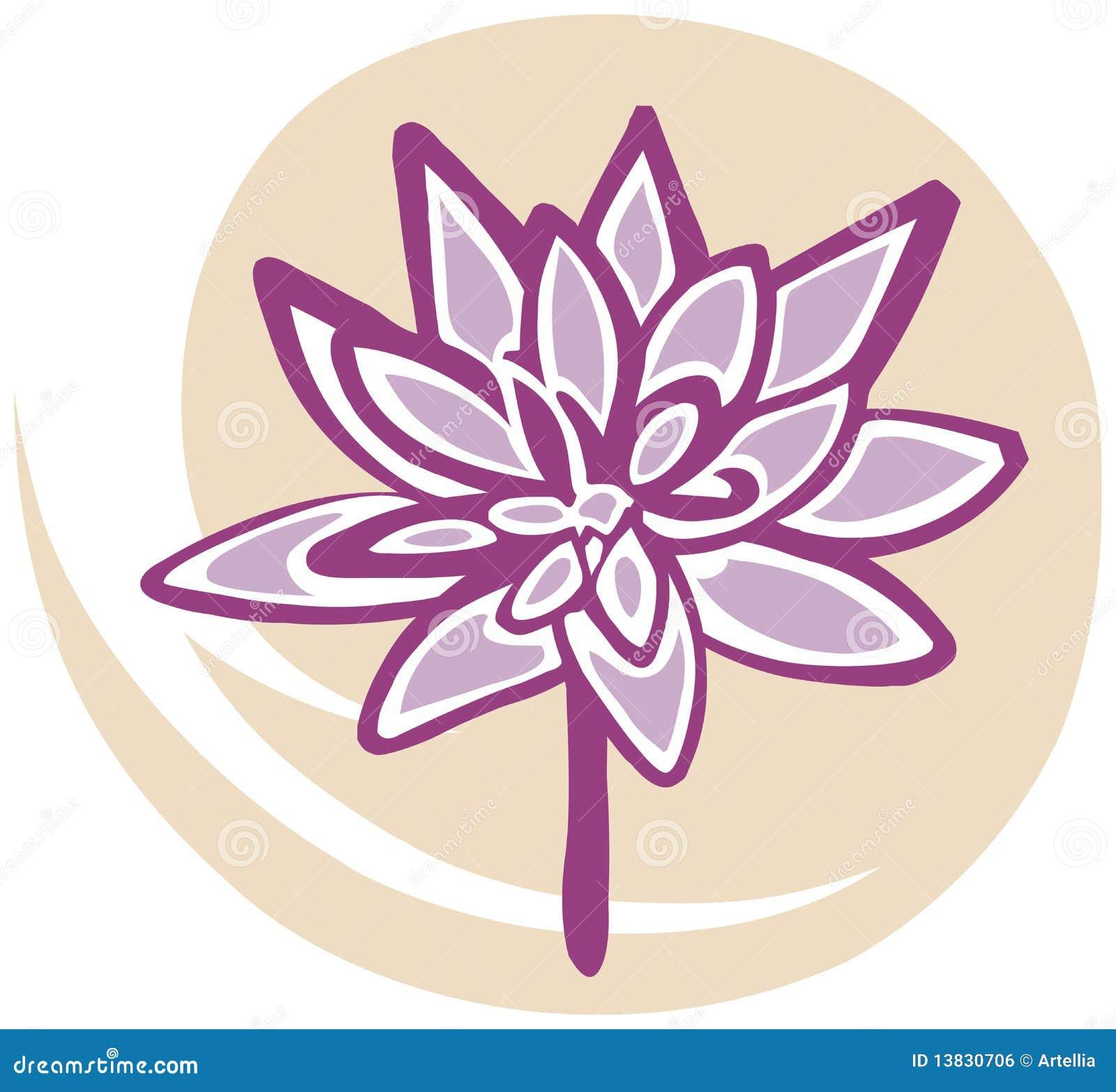 Fleur de lotus dans le rose sur le fond jaune