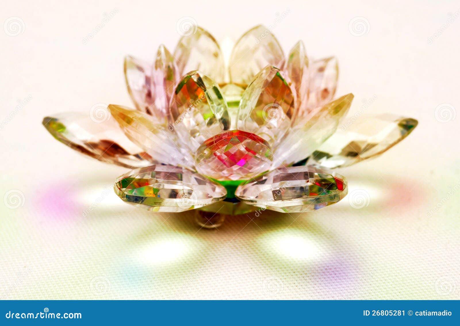 Fleur De Lotus En Cristal Image stock - Image: 26805281