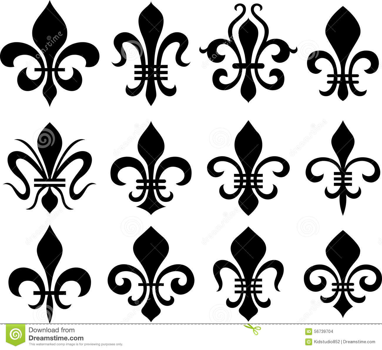 fleur de lys classic symbols stock photo image 56739704. Black Bedroom Furniture Sets. Home Design Ideas