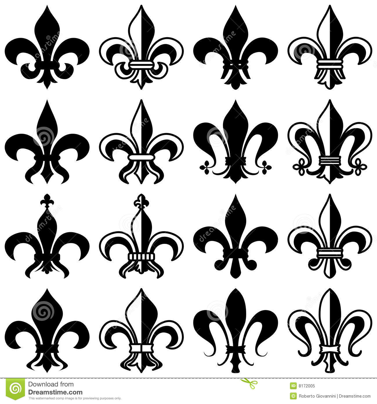 fleur de lys collection royalty free stock photo image. Black Bedroom Furniture Sets. Home Design Ideas