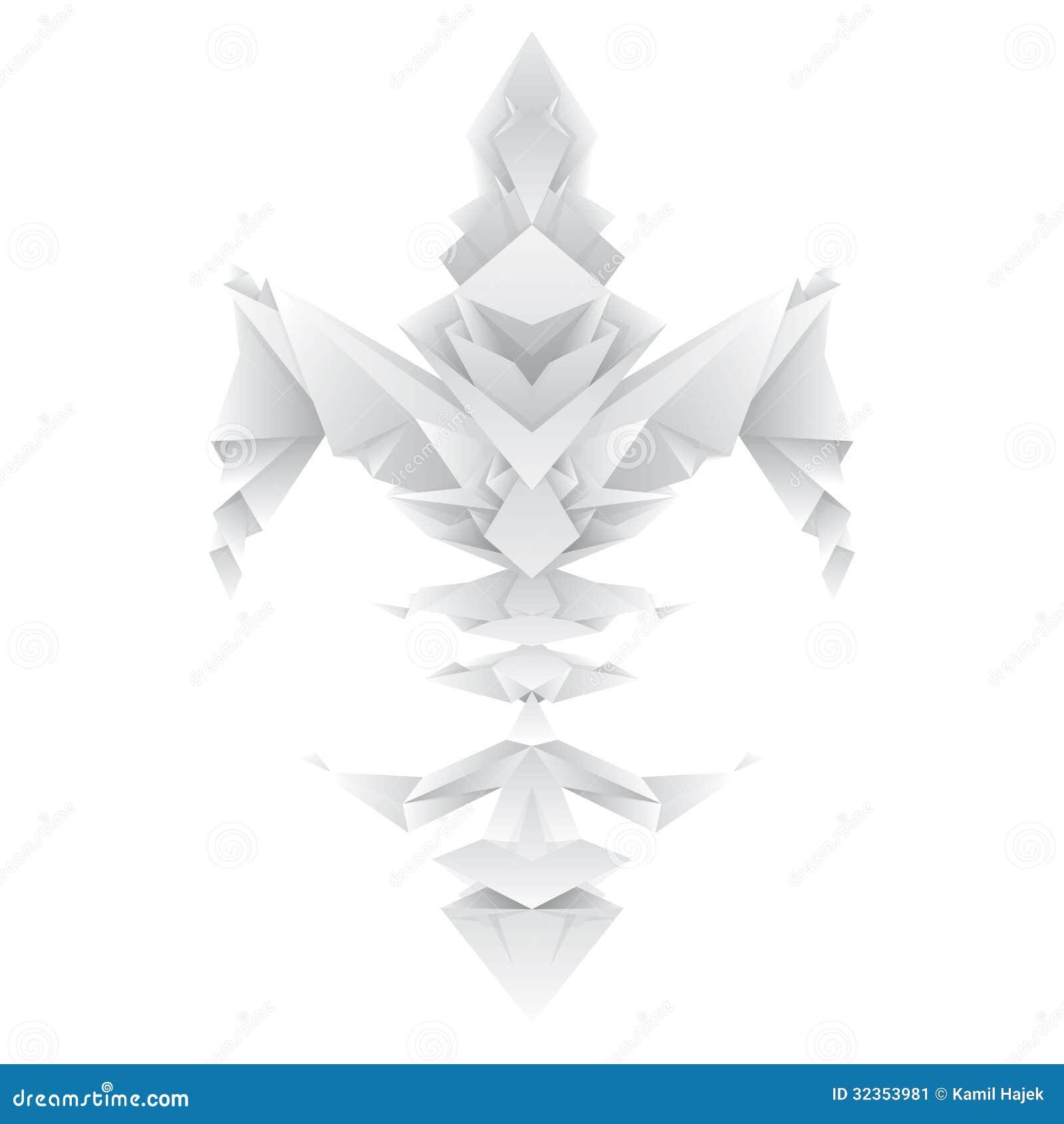 Fleur de lys dans le style d 39 origami image stock image 32353981 - Origami fleur de lys ...