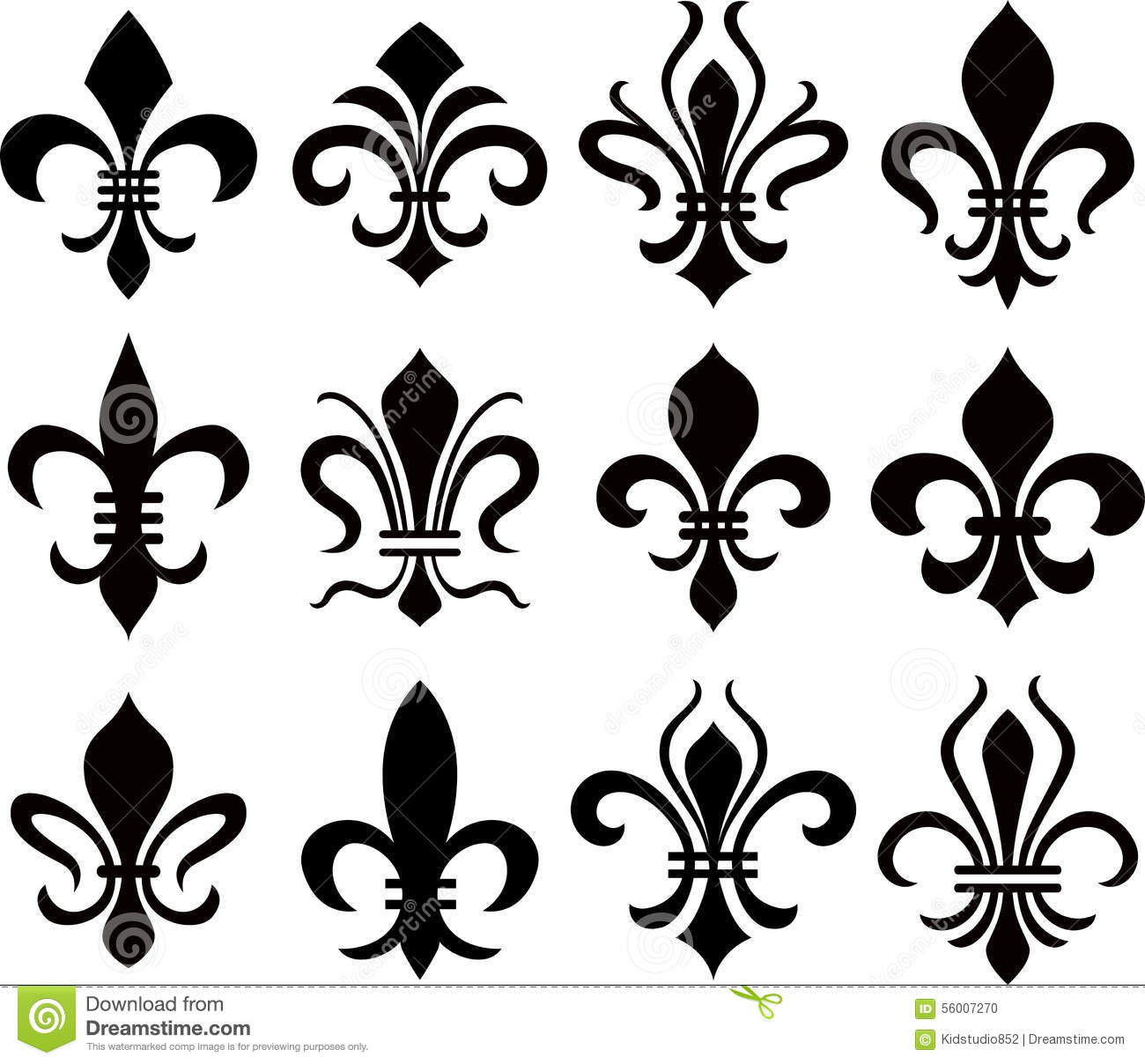 fleur de lys symbol stock vector illustration of abstract Flour De Lis Fleur De Lis Symbol