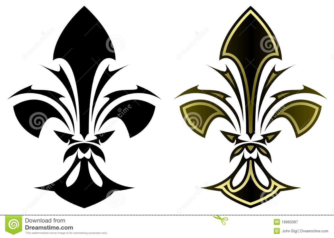 fleur de lys tattoo royalty free stock photography image 19965087. Black Bedroom Furniture Sets. Home Design Ideas