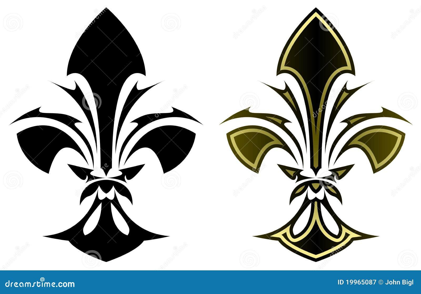 Fleur De Lys Tattoo Stock Vector Illustration Of Symbol 19965087