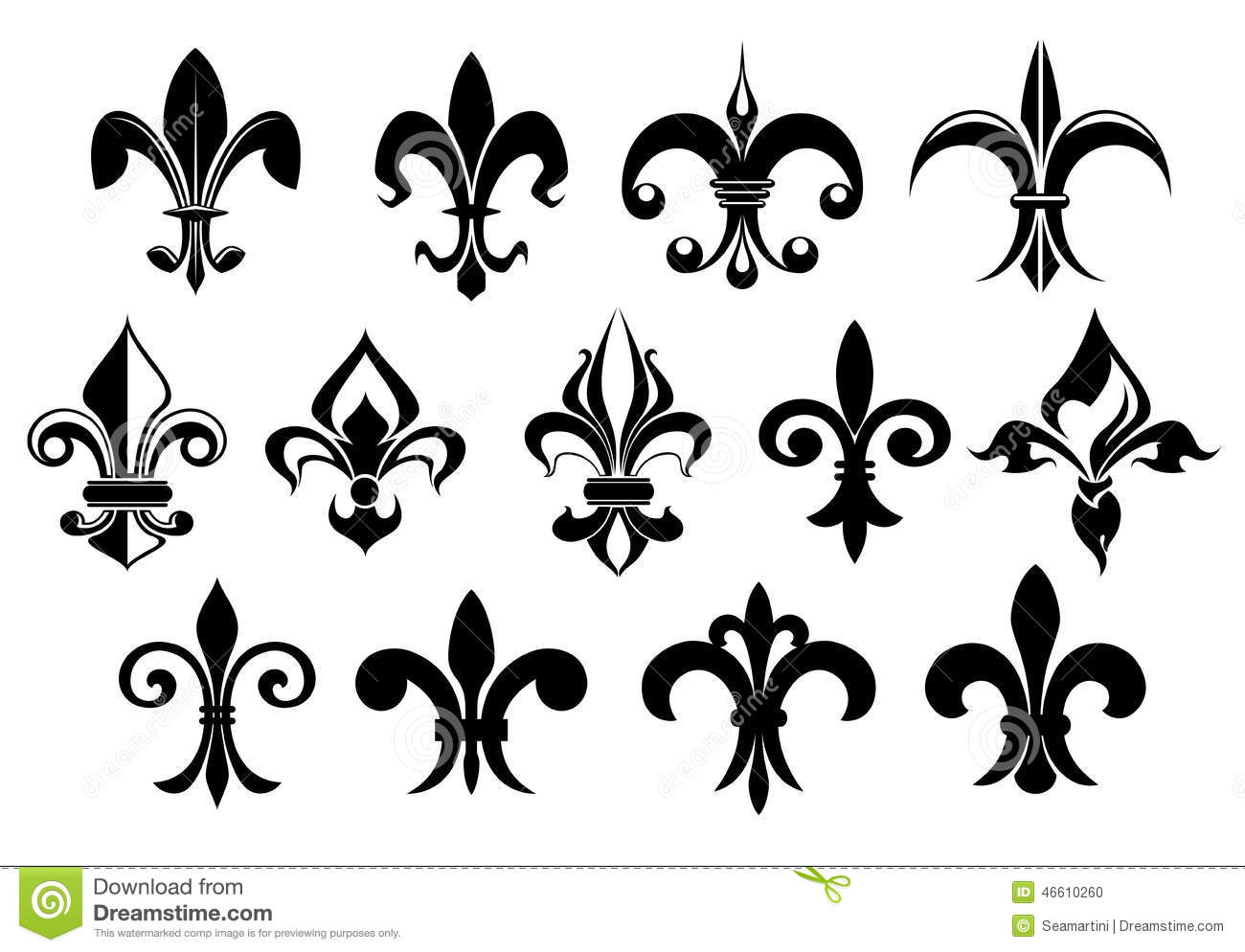 fleur de lys vintage design elements stock vector image. Black Bedroom Furniture Sets. Home Design Ideas